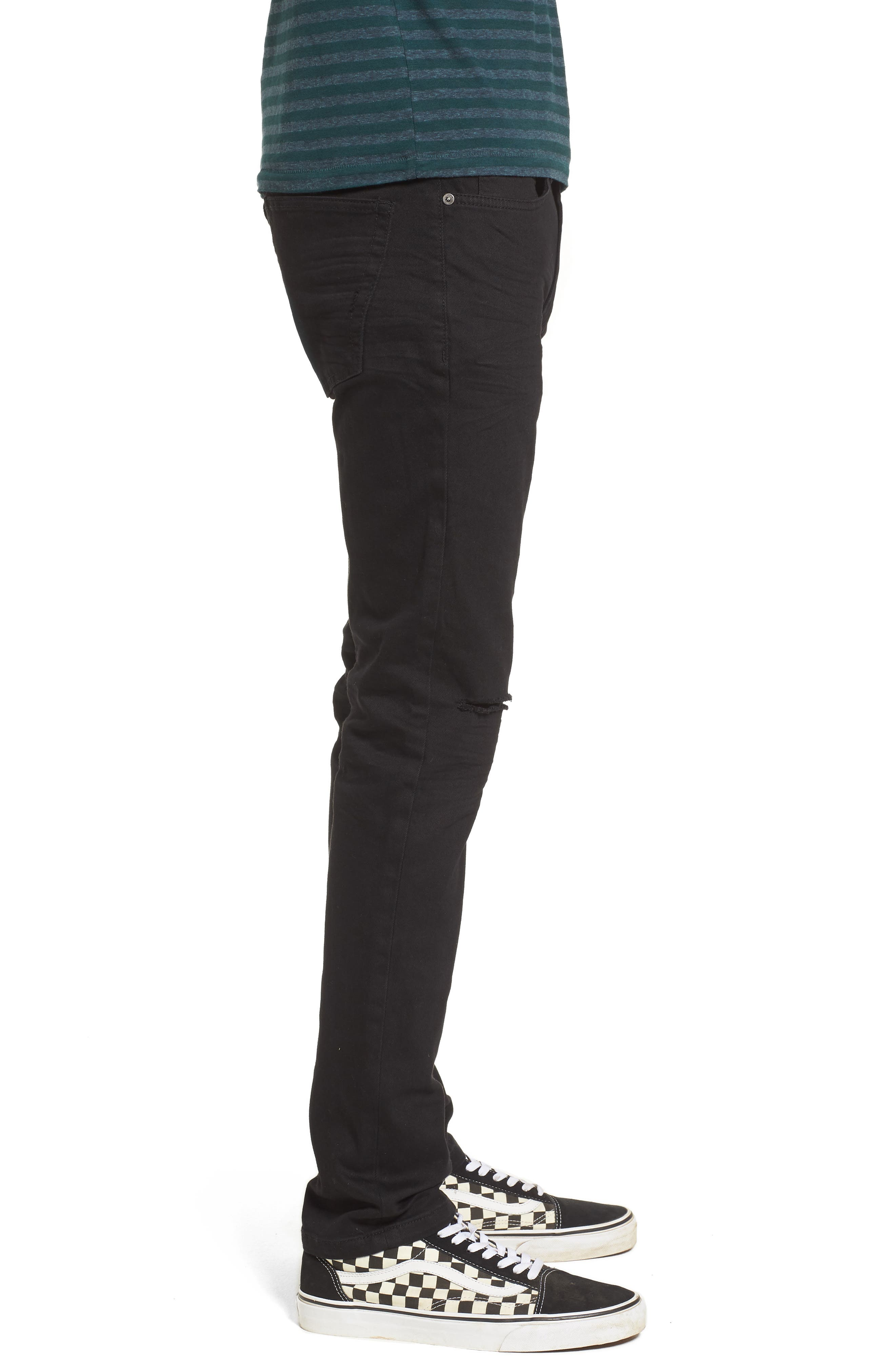 Horatio Distressed Skinny Fit Jeans,                             Alternate thumbnail 3, color,                             HIGH Q