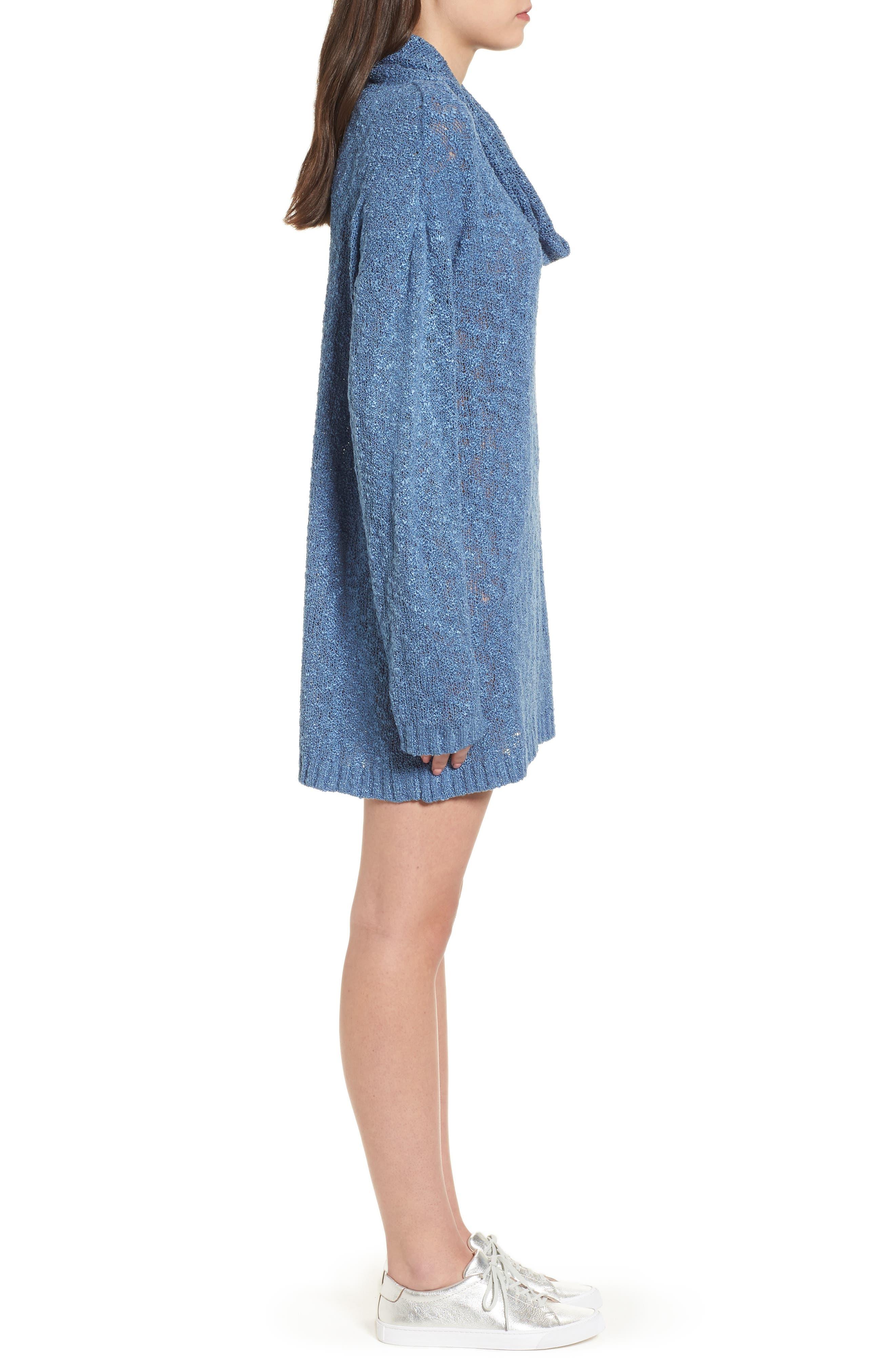 Fading Light Cowl Neck Sweater Dress,                             Alternate thumbnail 3, color,                             401