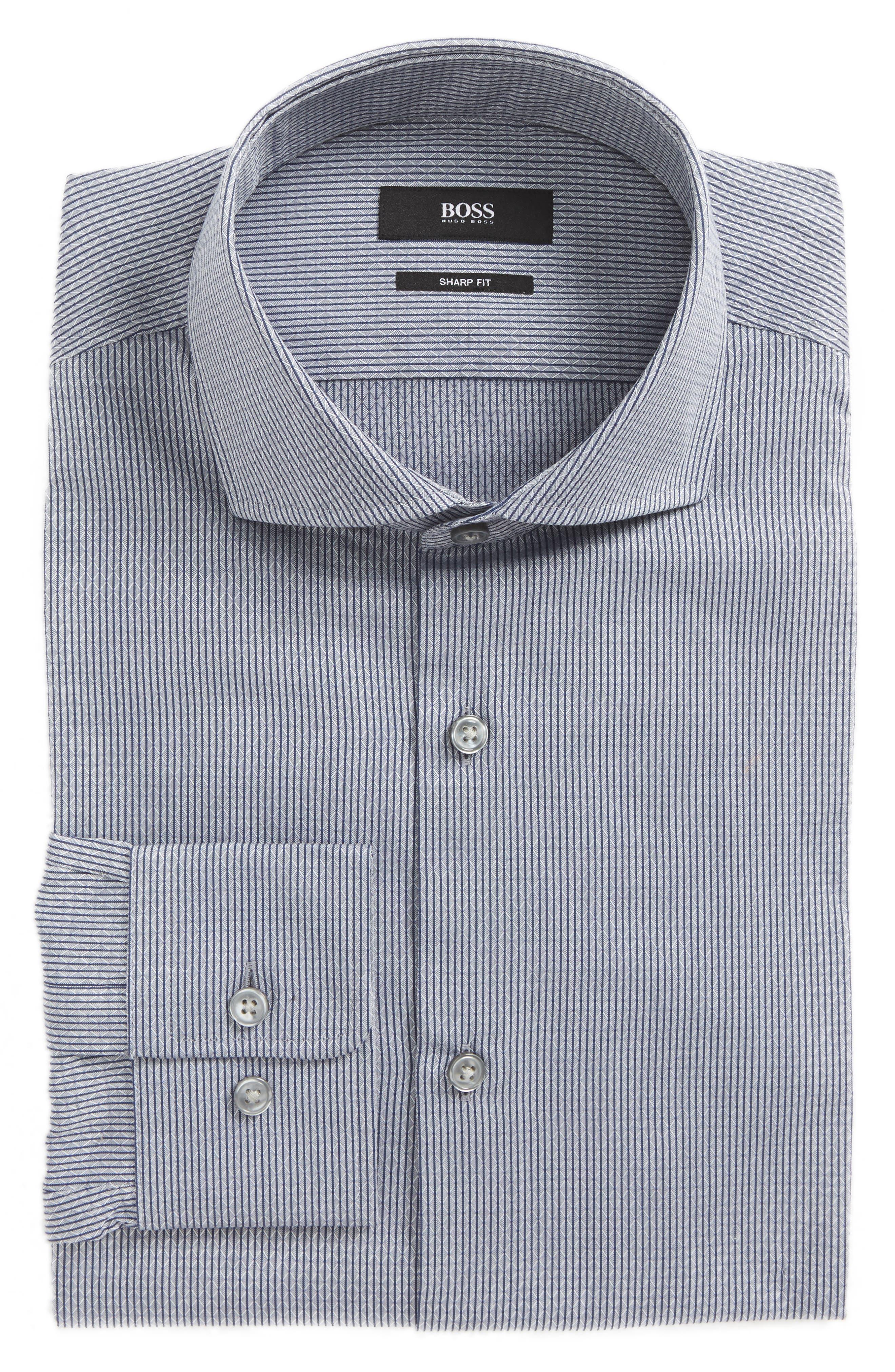 Mark Sharp Fit Geometric Dress Shirt,                             Main thumbnail 1, color,                             021
