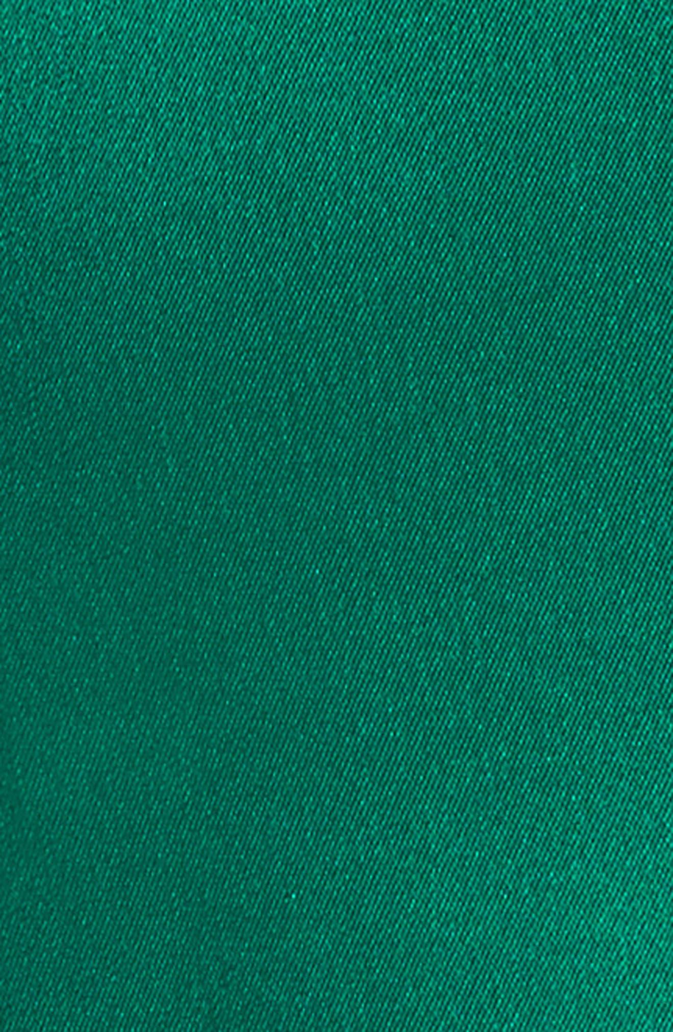 TALBOT RUNHOF,                             Crepe Satin V-Neck Gown,                             Alternate thumbnail 5, color,                             301