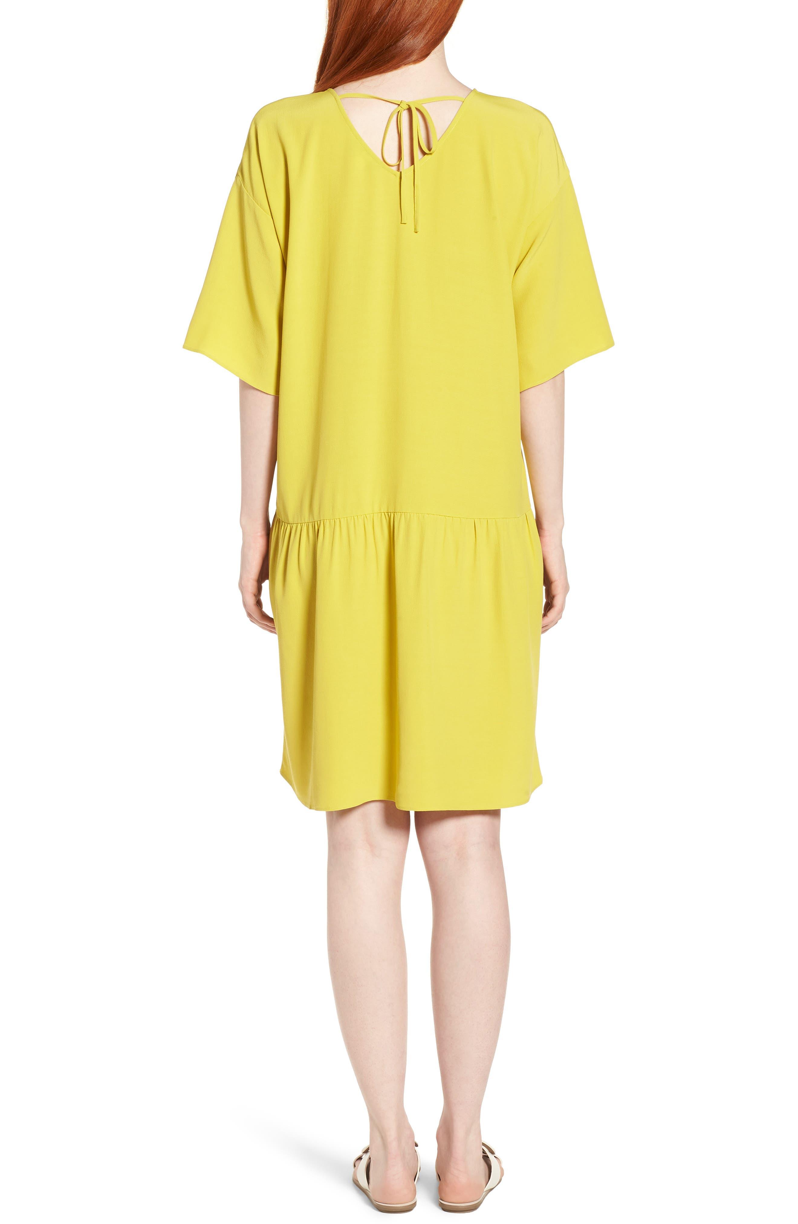 Drop Waist Tencel<sup>®</sup> Lyocell Blend Dress,                             Alternate thumbnail 9, color,