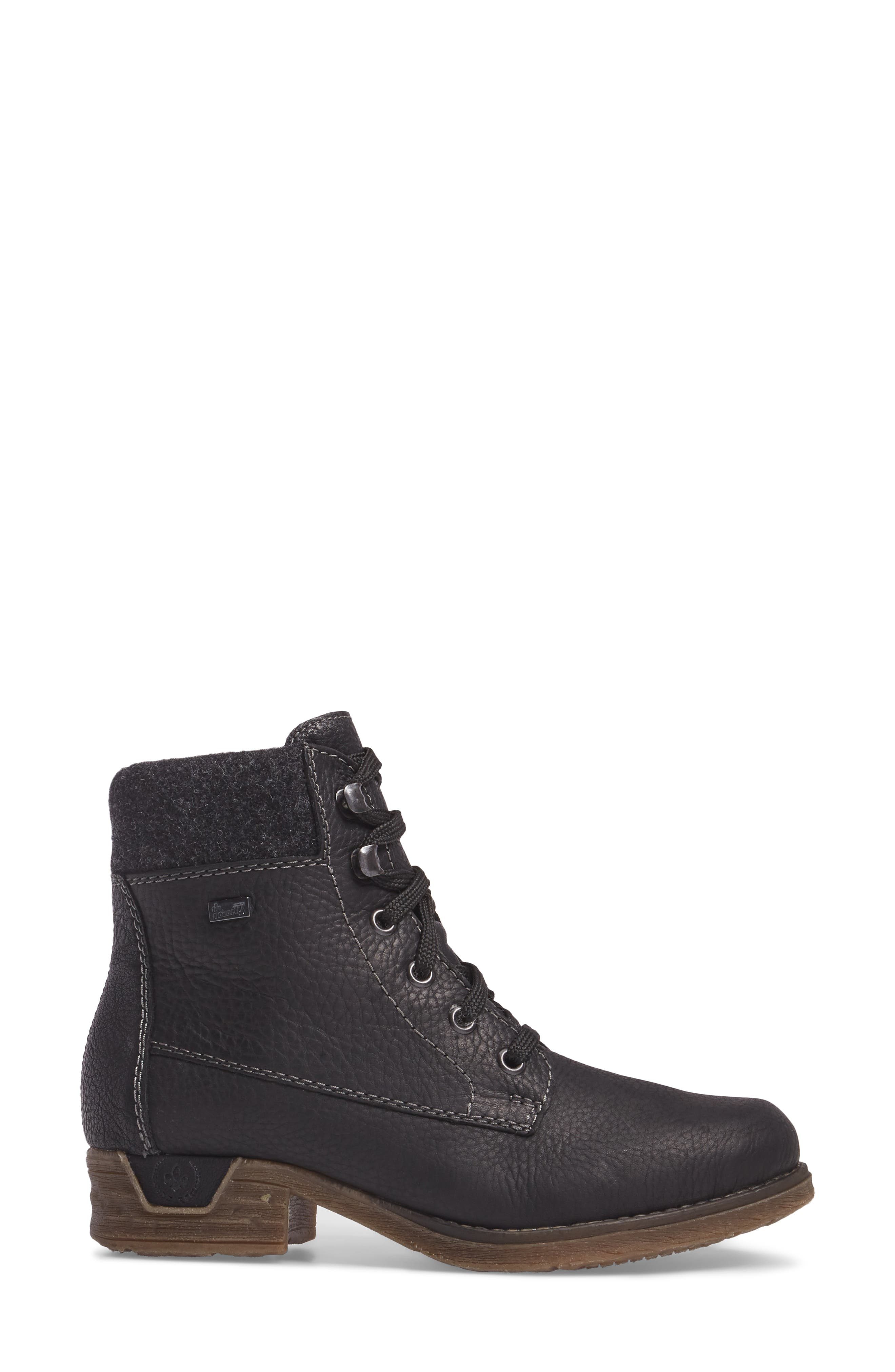 Fee 02 Lace-Up Boot,                             Alternate thumbnail 3, color,                             SCHWARZ ANTRACHITE LEATHER
