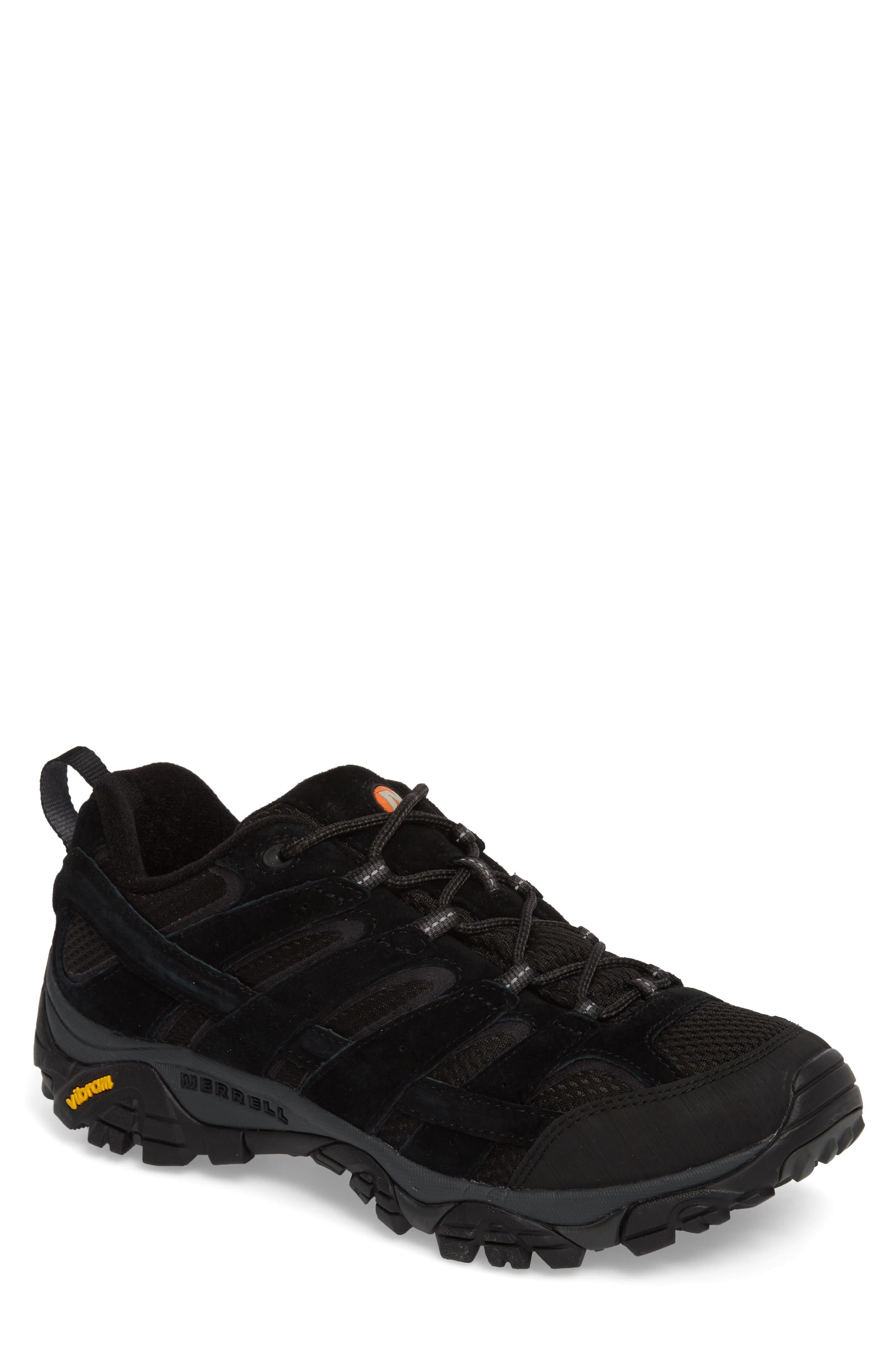 Moab 2 Ventilator Hiking Shoe,                         Main,                         color, BLACK NIGHT