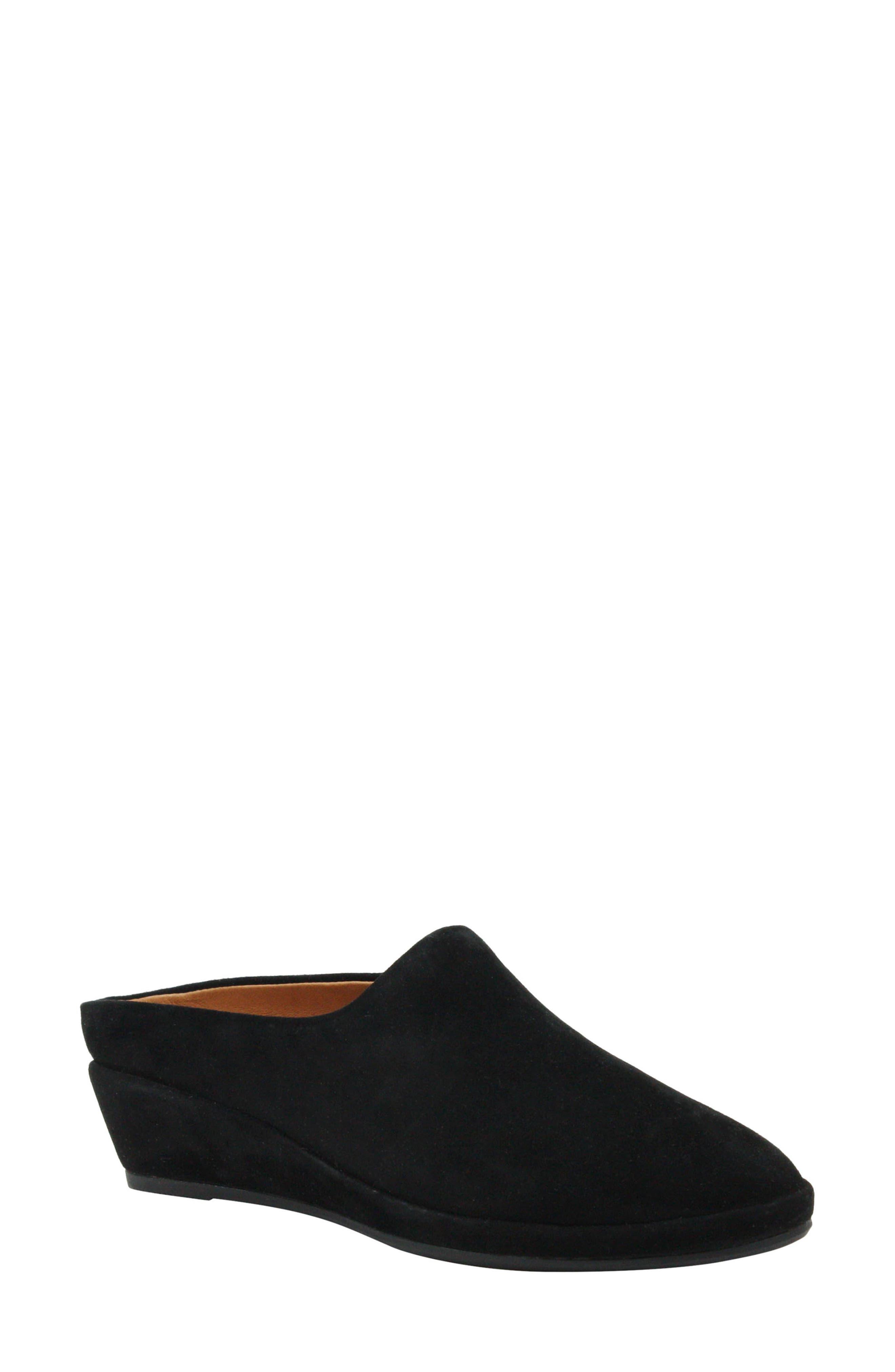 Bingwen Mule, Main, color, BLACK SUEDE