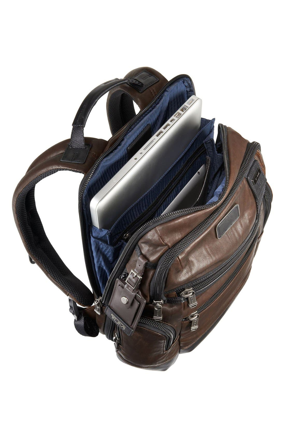 'Bravo - Knox' Leather Backpack,                             Alternate thumbnail 5, color,                             204
