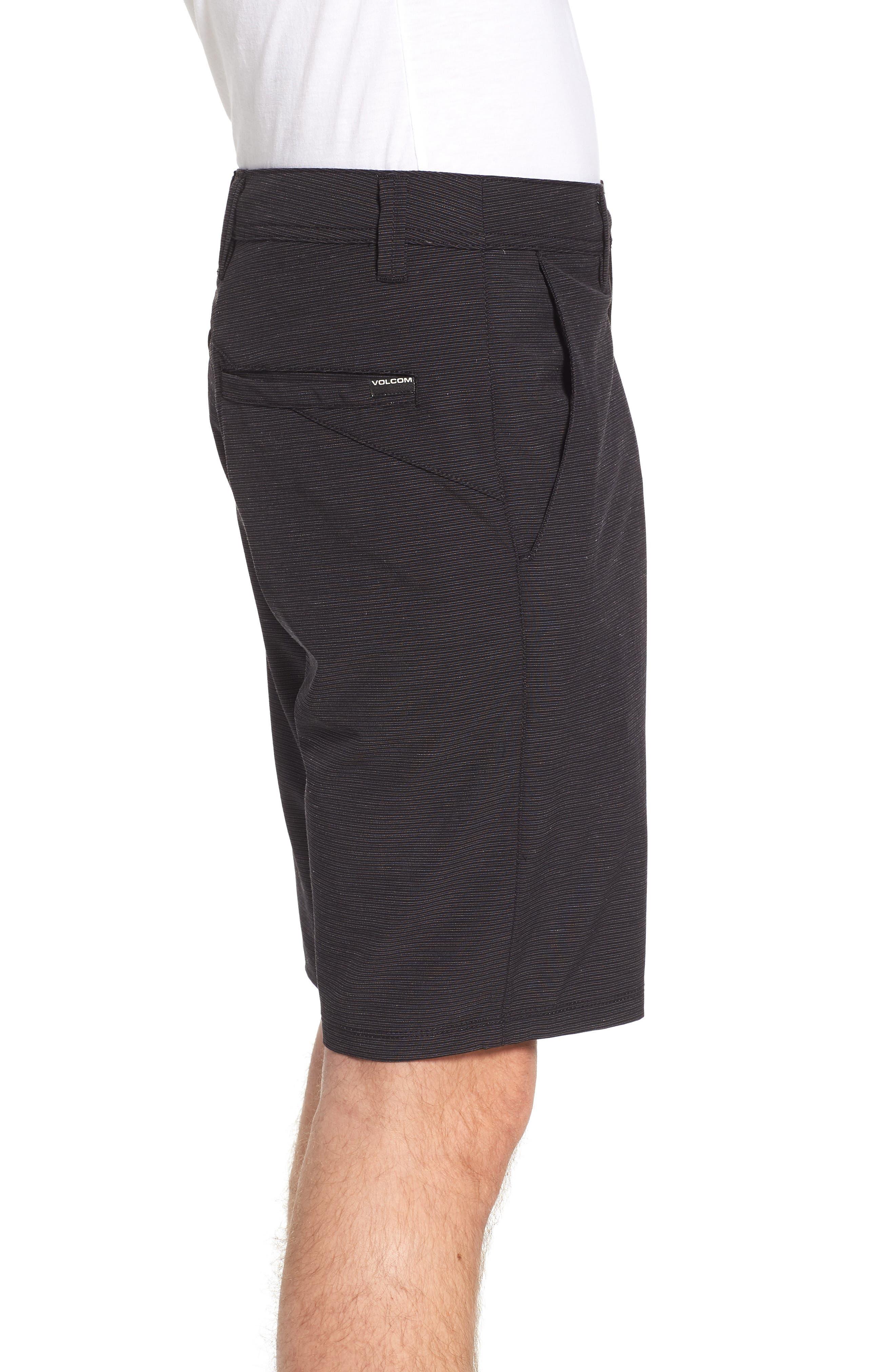 Surf N' Turf Slub Hybrid Shorts,                             Alternate thumbnail 3, color,                             BLACK