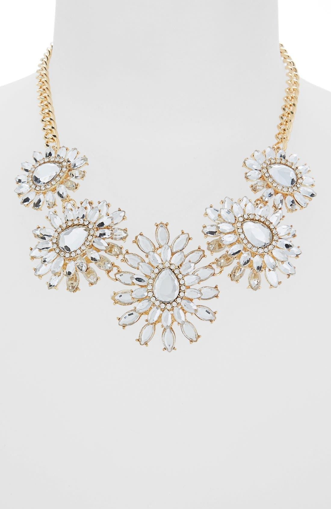 Floral Crystal Statement Necklace,                             Main thumbnail 1, color,                             710