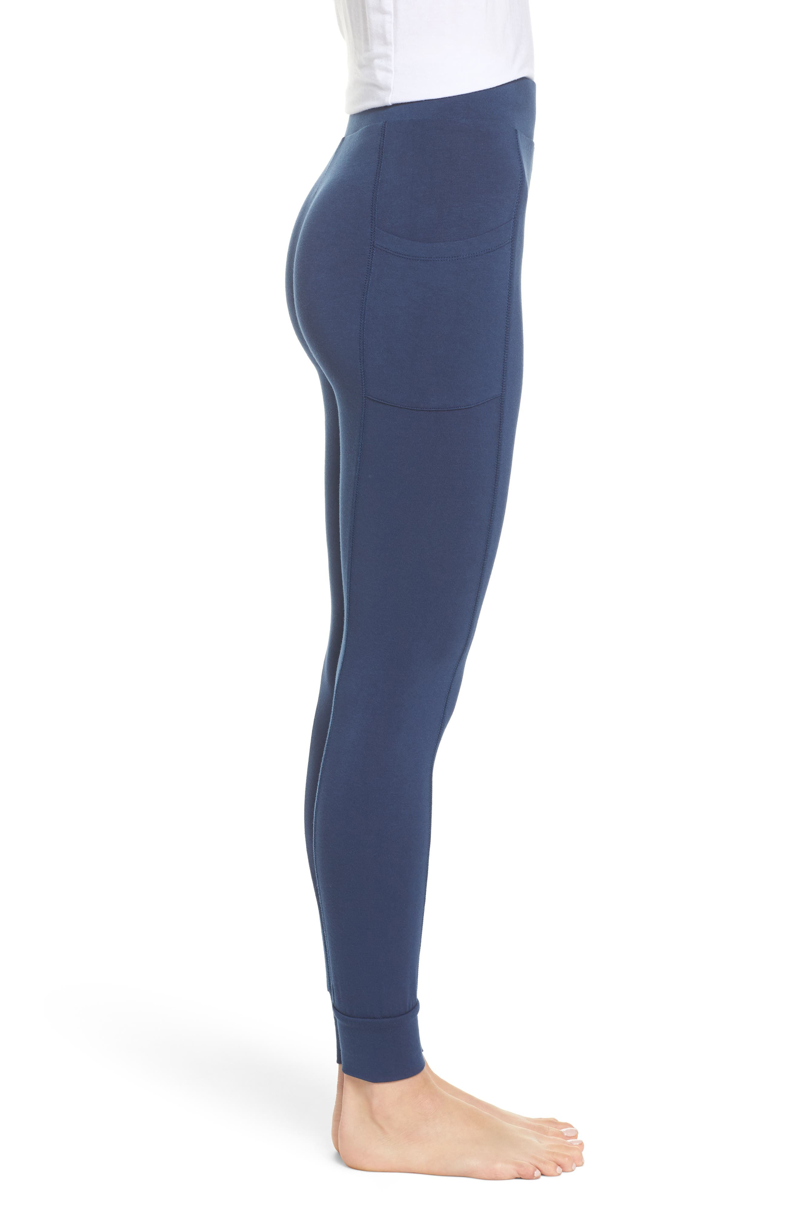 Kickin' It French Terry High Waist Lounge Leggings,                             Alternate thumbnail 3, color,                             400
