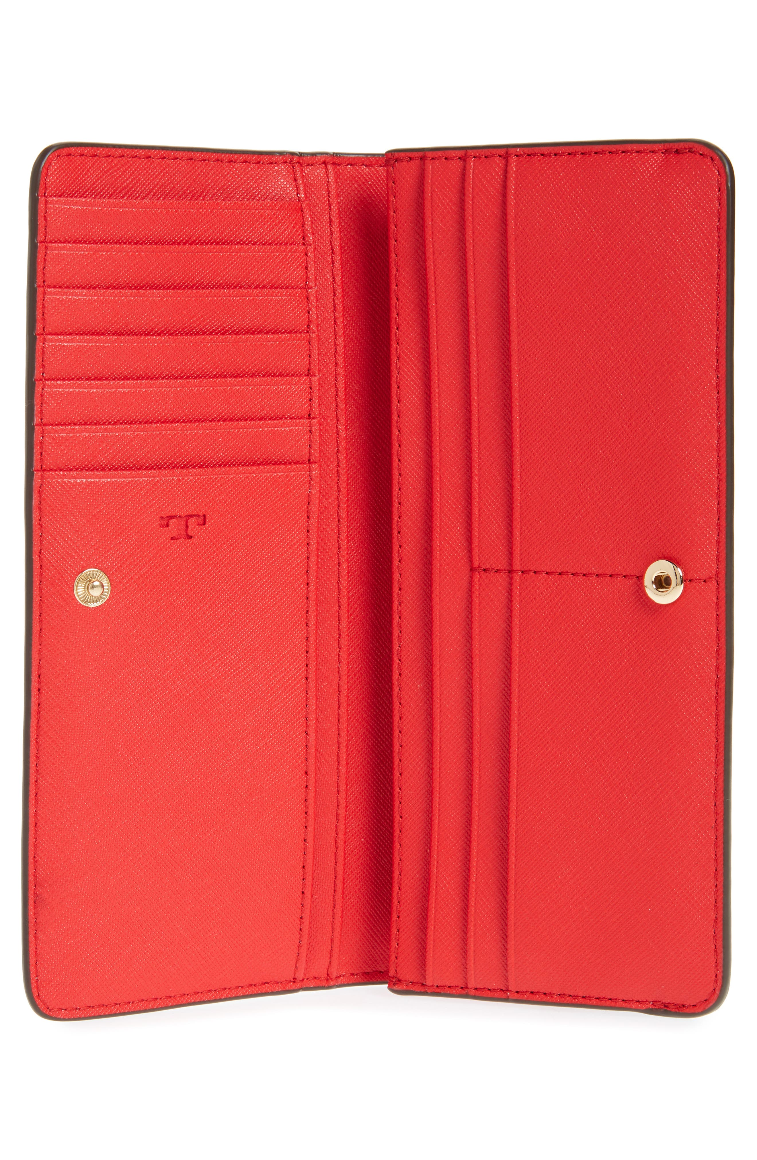 Robinson Saffiano Leather Continental Wallet,                             Alternate thumbnail 4, color,                             BRILLIANT RED