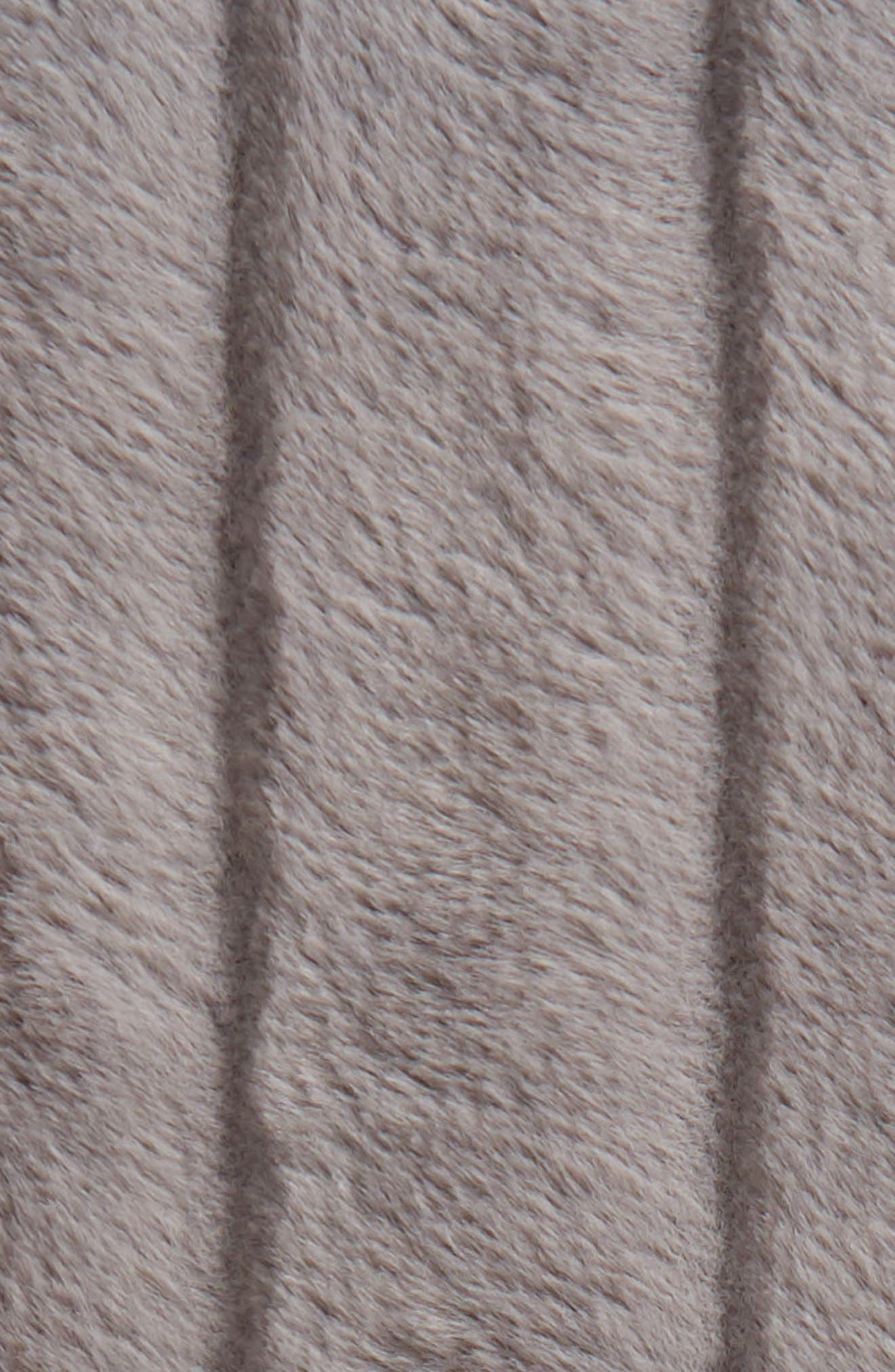 Sheared Stripe Faux Fur Throw,                             Alternate thumbnail 2, color,                             GREY FROST