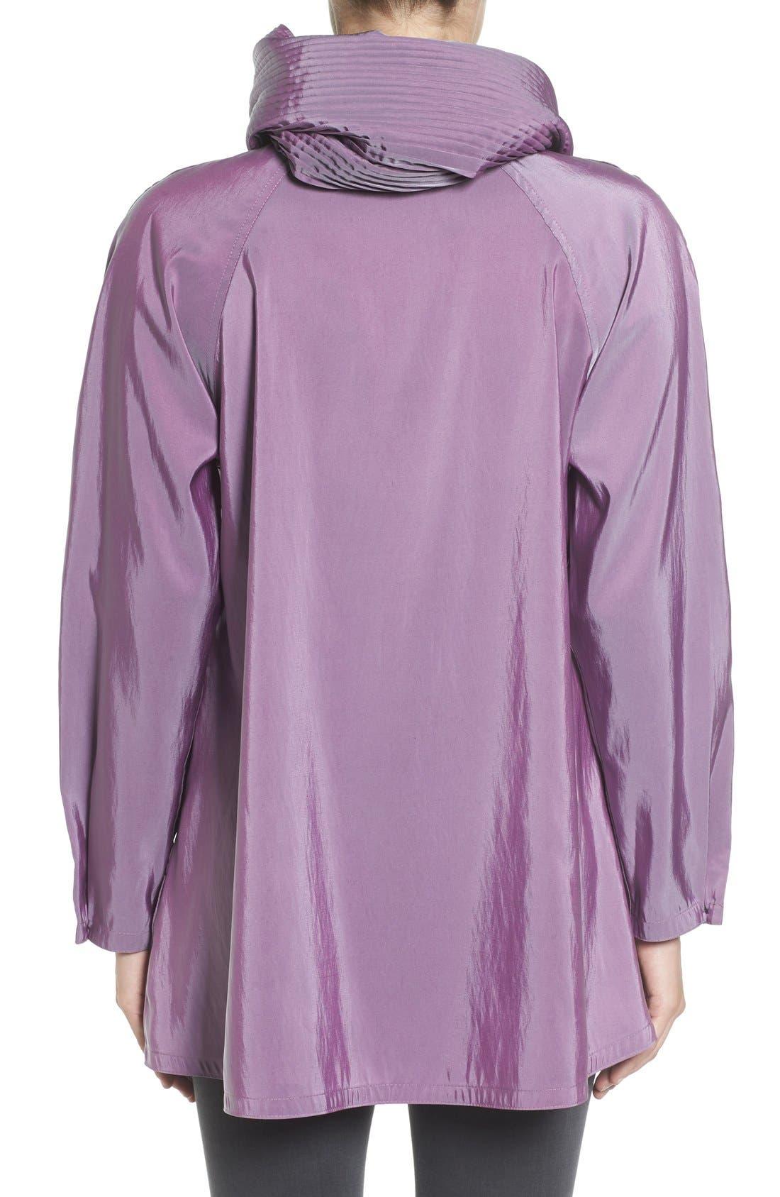 'Mini Donatella' Reversible Pleat Hood Packable Travel Coat,                             Alternate thumbnail 40, color,
