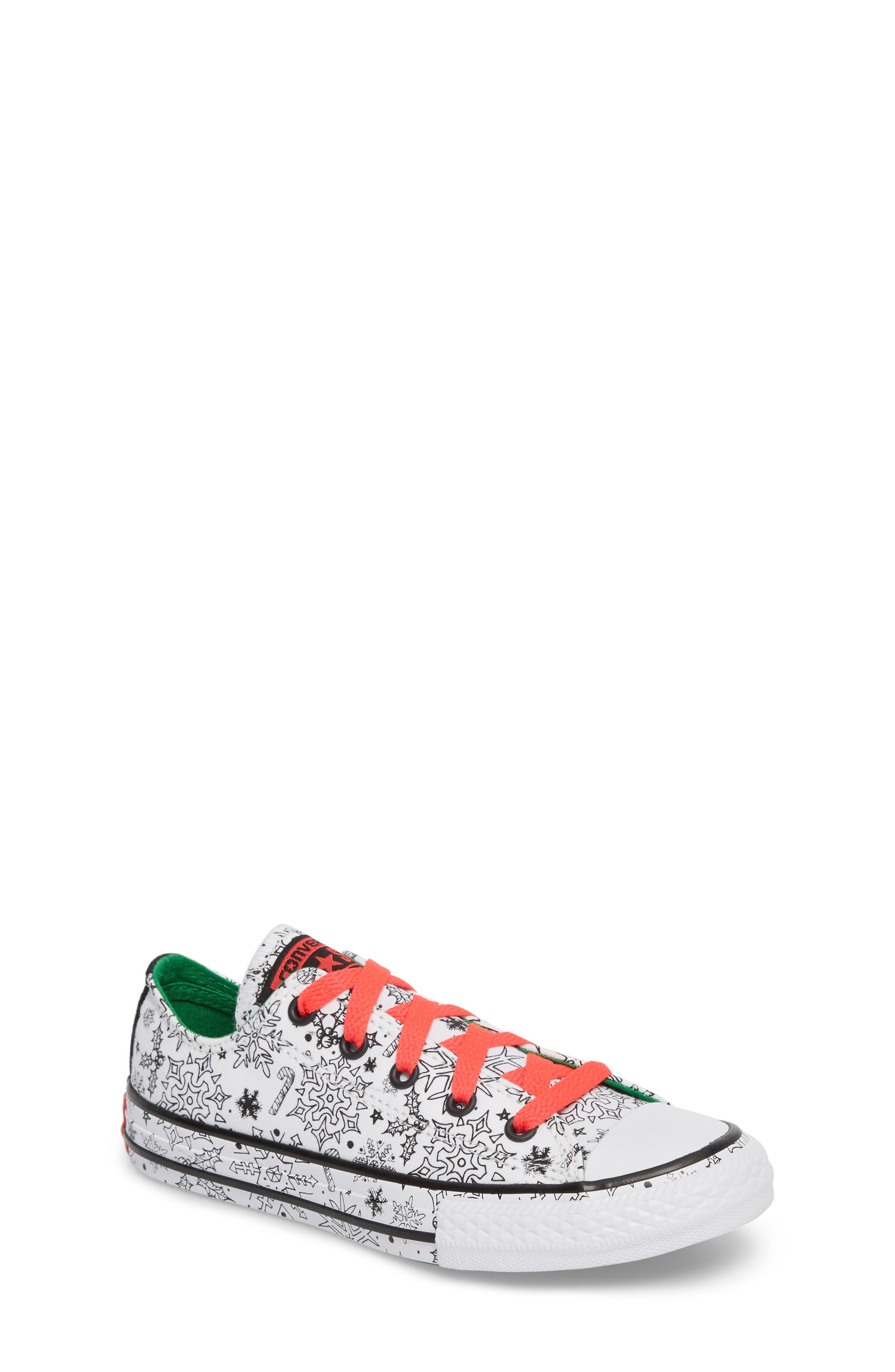 Chuck Taylor<sup>®</sup> All Star<sup>®</sup> Christmas Coloring Book Ox Sneaker,                         Main,                         color,