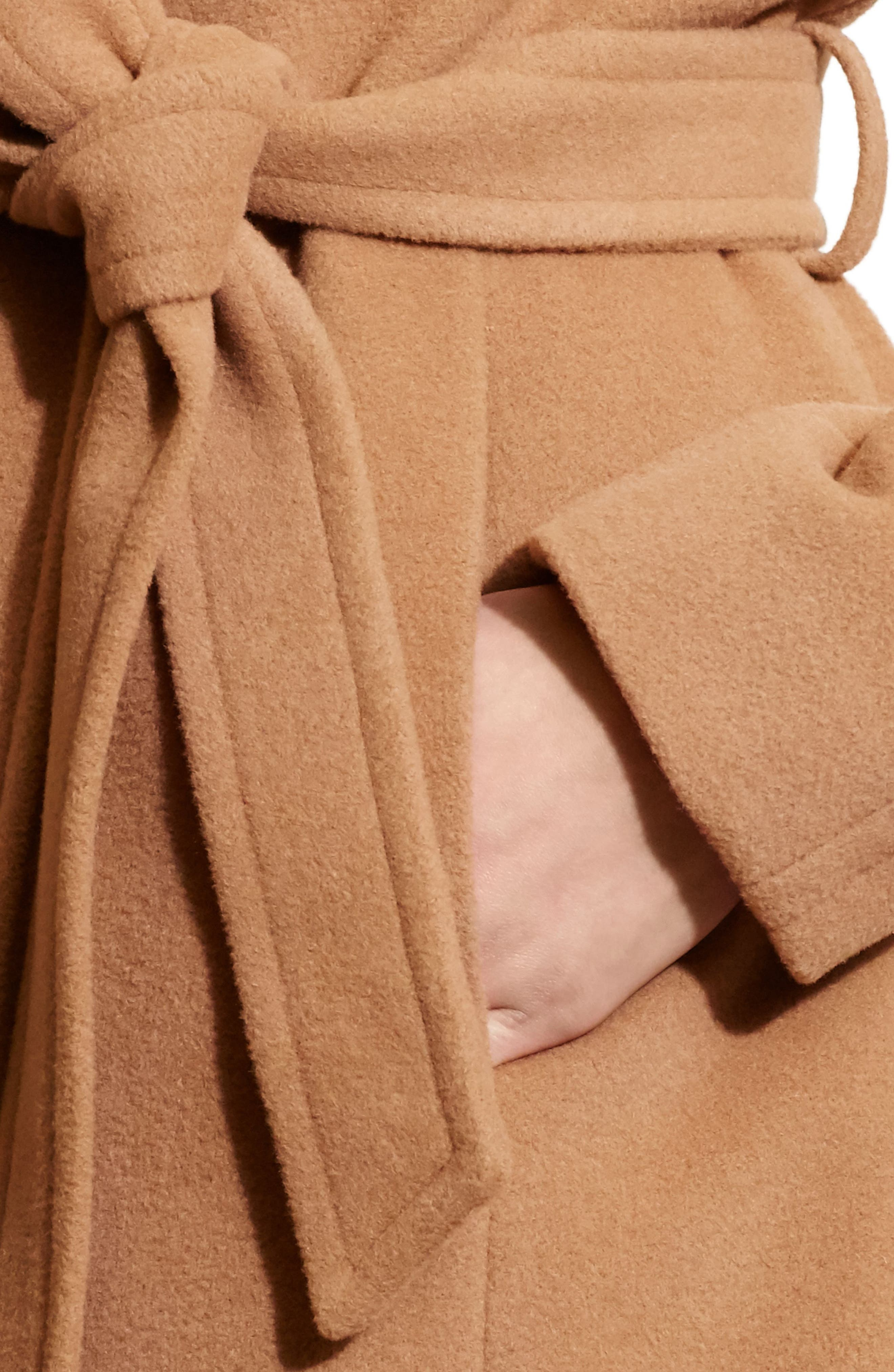 LAUREN RALPH LAUREN, Wool Blend Wrap Coat, Alternate thumbnail 3, color, 256