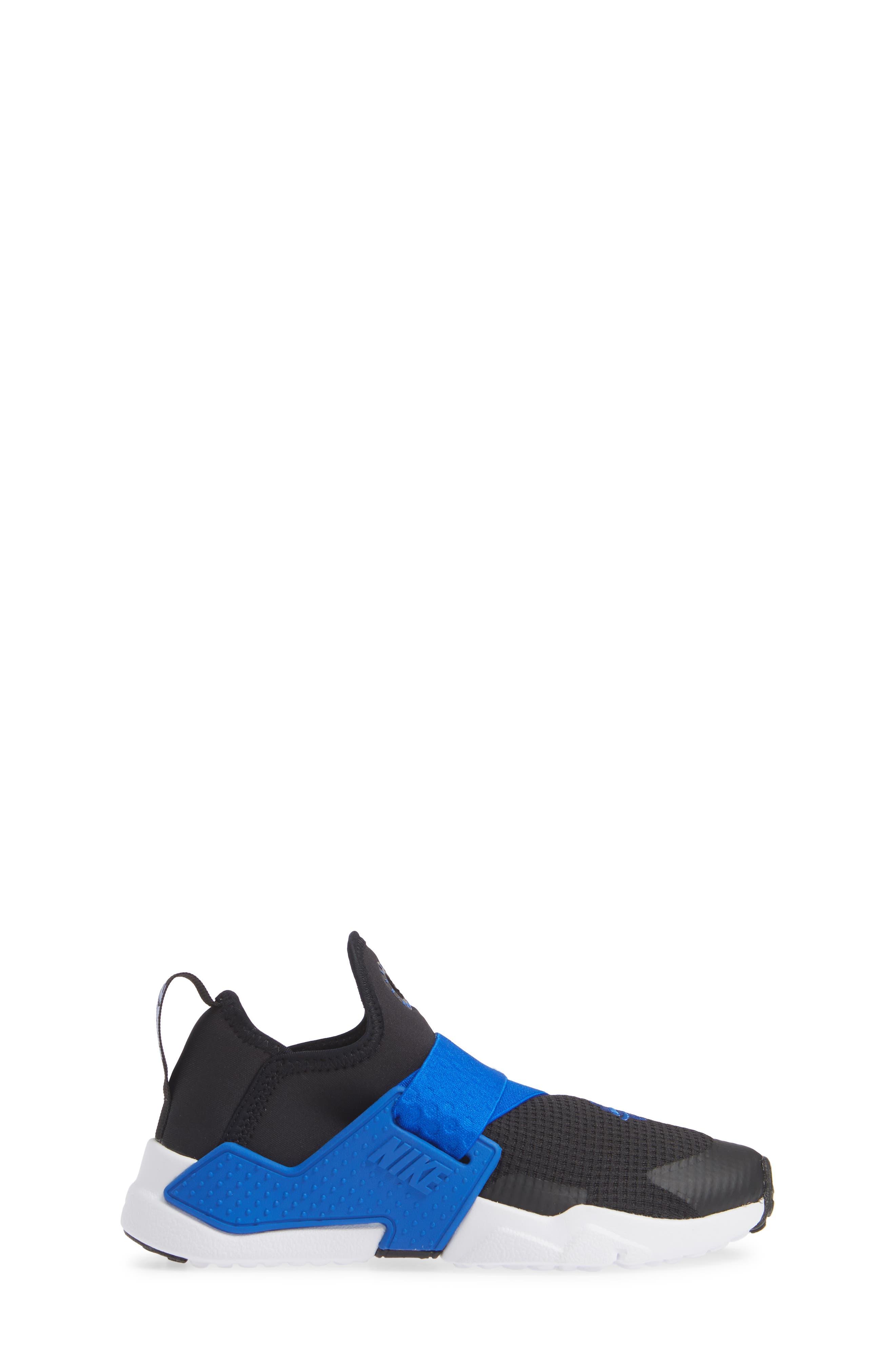 Huarache Extreme Sneaker,                             Alternate thumbnail 3, color,                             BLACK/ BLUE-WHITE