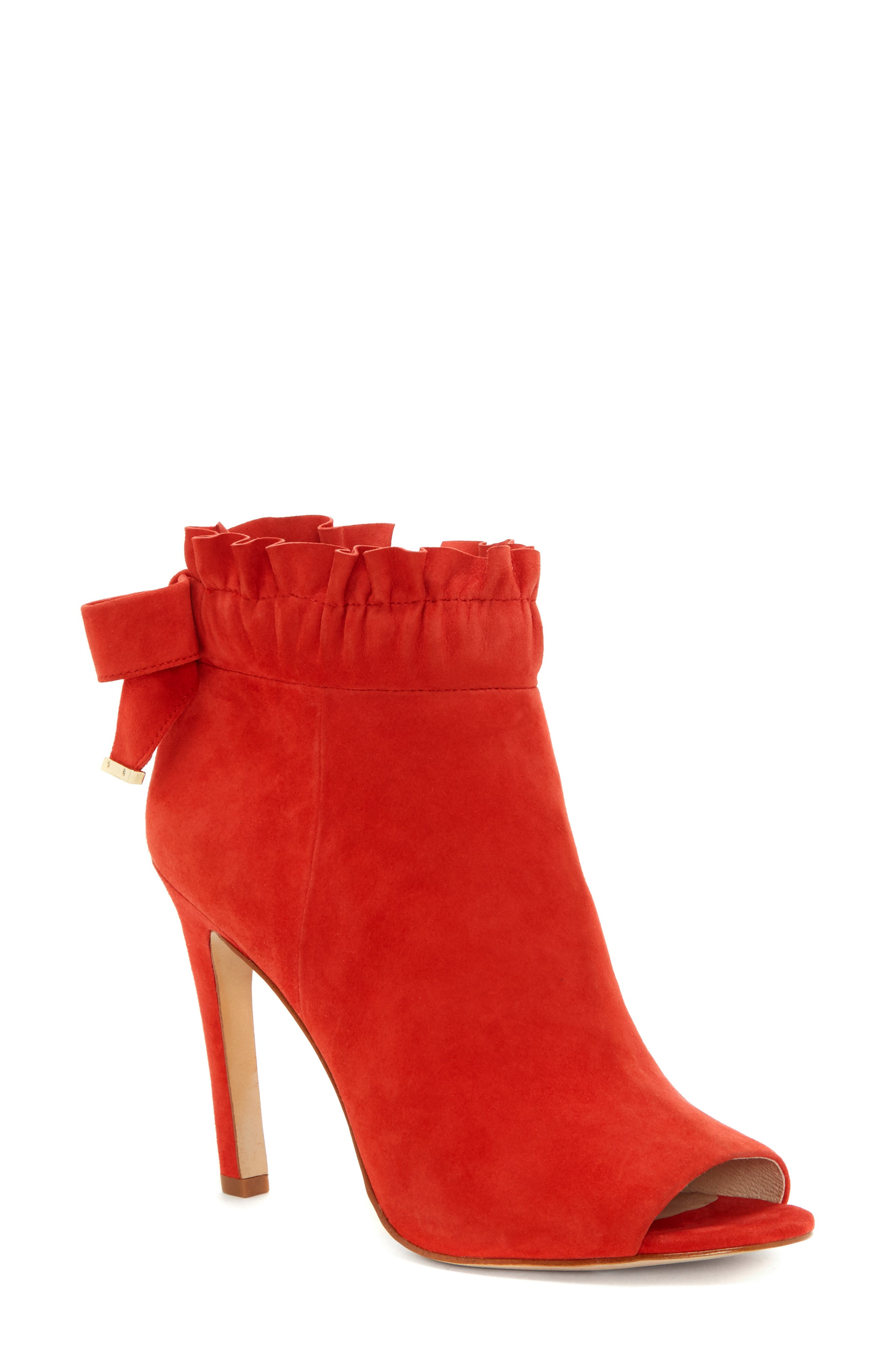 Innay Peep Toe Bootie,                             Main thumbnail 1, color,                             ACE SUEDE
