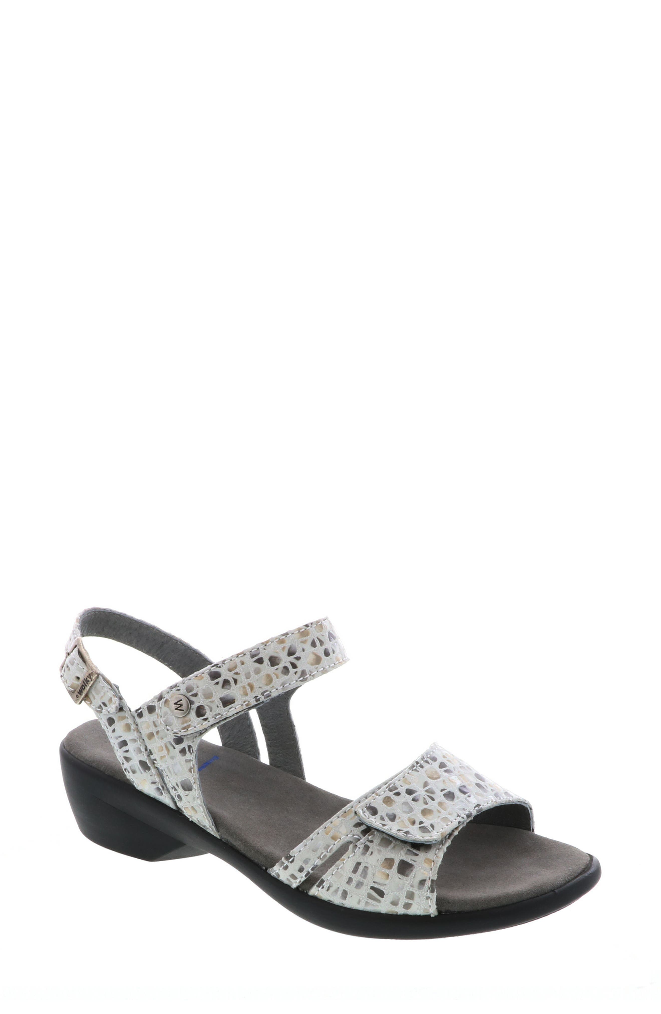 Agua Sandal,                         Main,                         color, OFF WHITE/ GREY