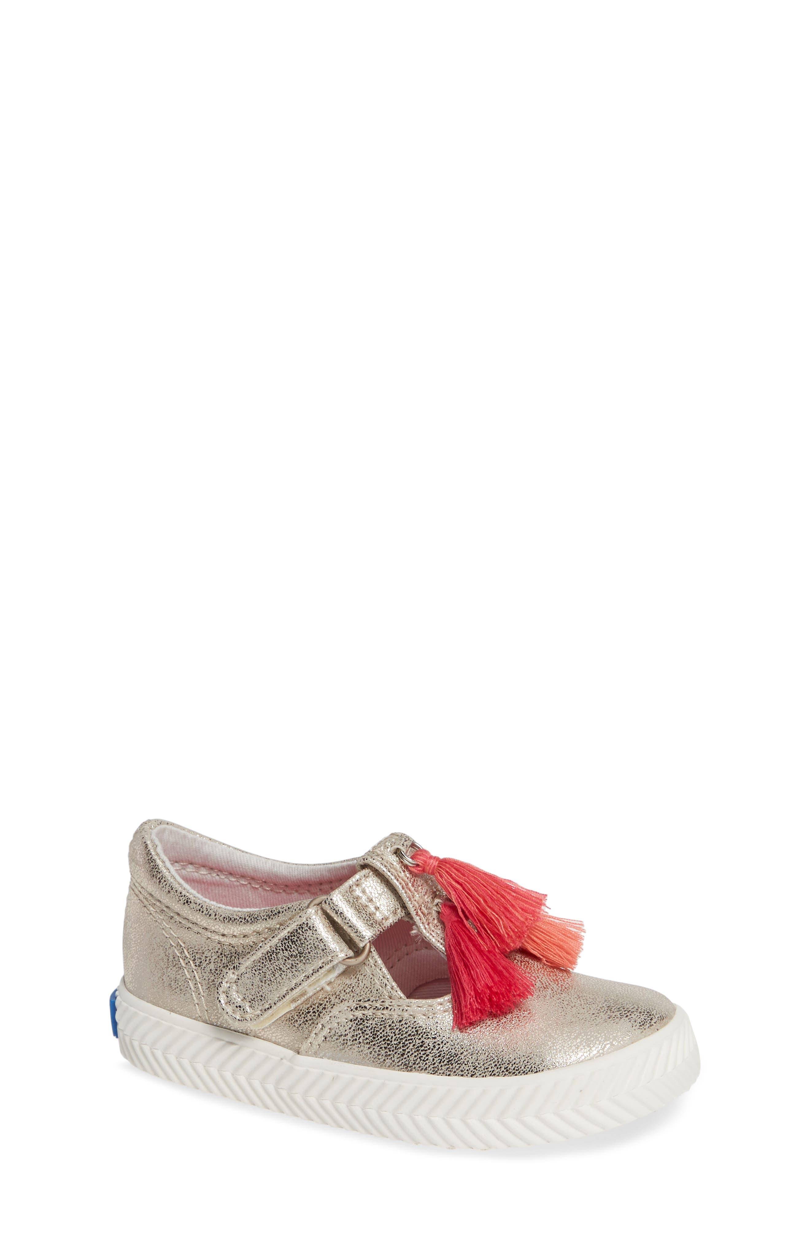 Daphne T-Strap Sneaker,                             Main thumbnail 1, color,                             GOLD/ GOLD