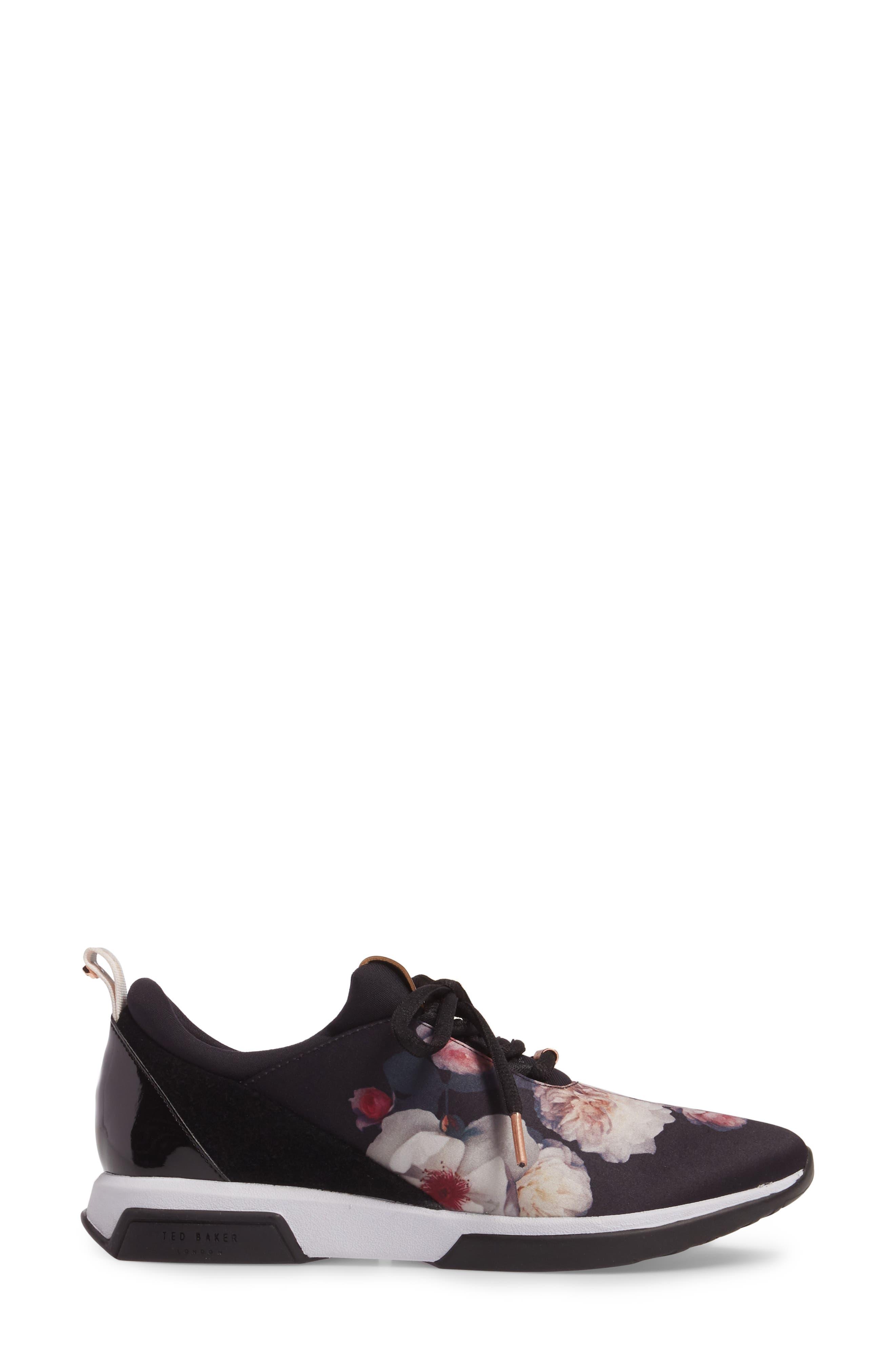 Cepape Floral Sneaker,                             Alternate thumbnail 3, color,