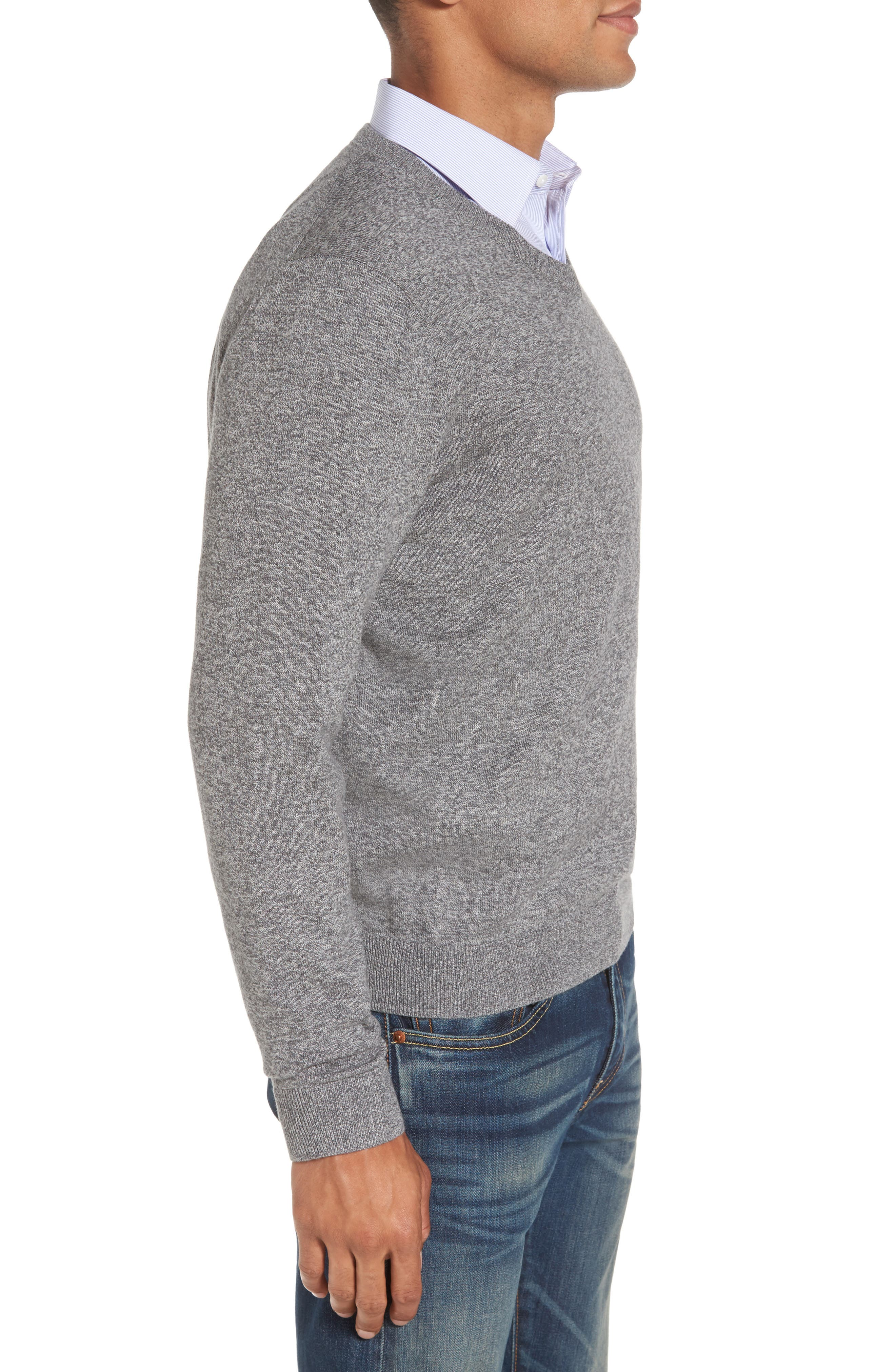 V-Neck Sweater,                             Alternate thumbnail 3, color,                             032