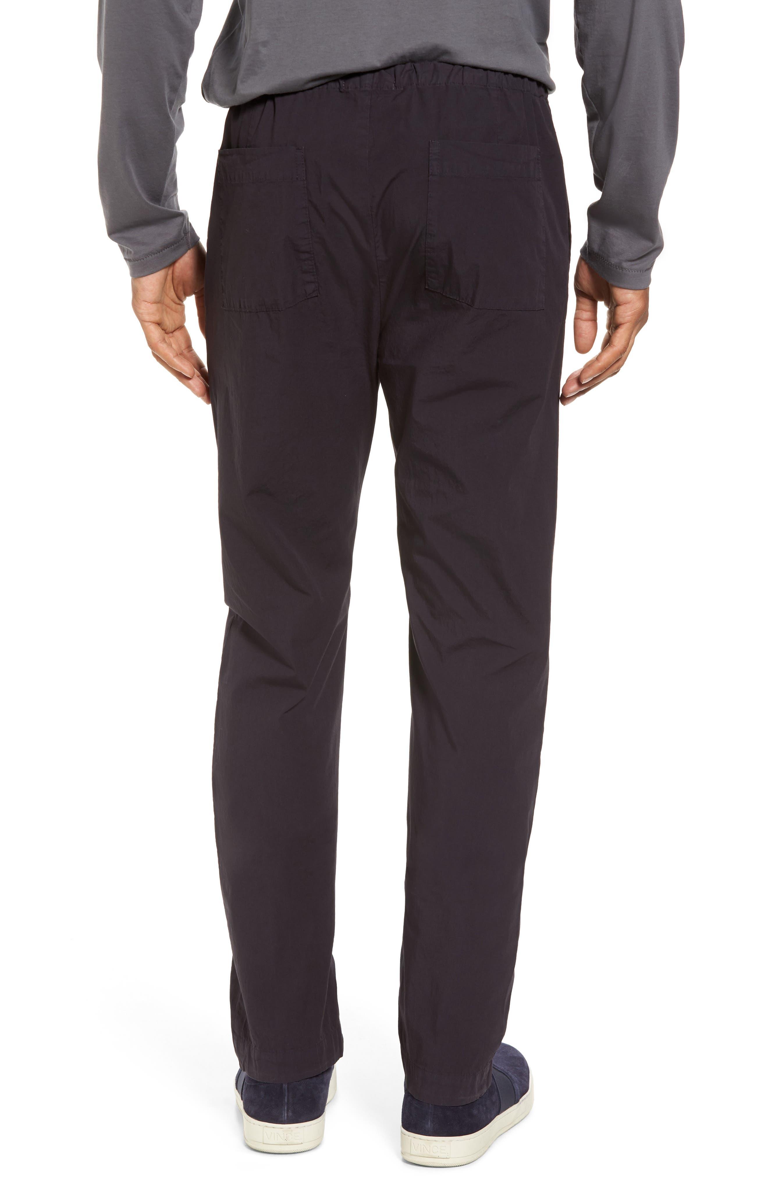 Slim Stretch Poplin Drawcord Pants,                             Alternate thumbnail 2, color,                             001