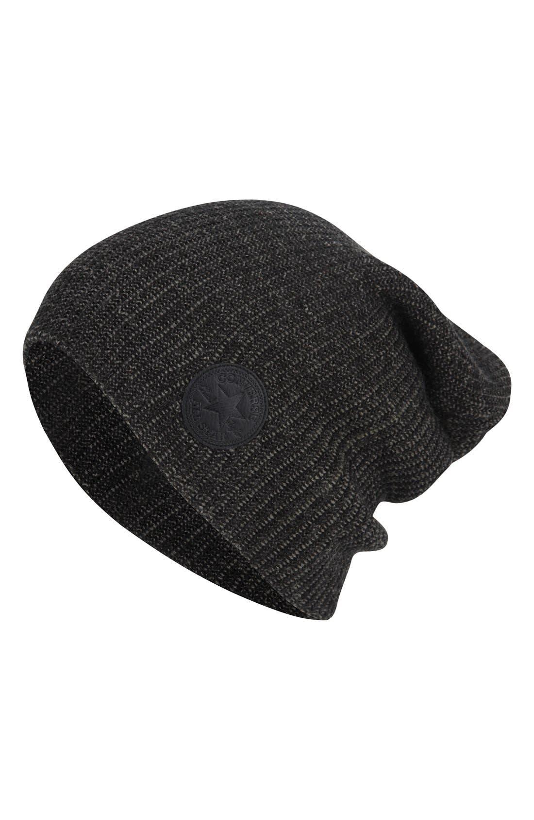 Slouchy Rib Knit Beanie, Main, color, 010