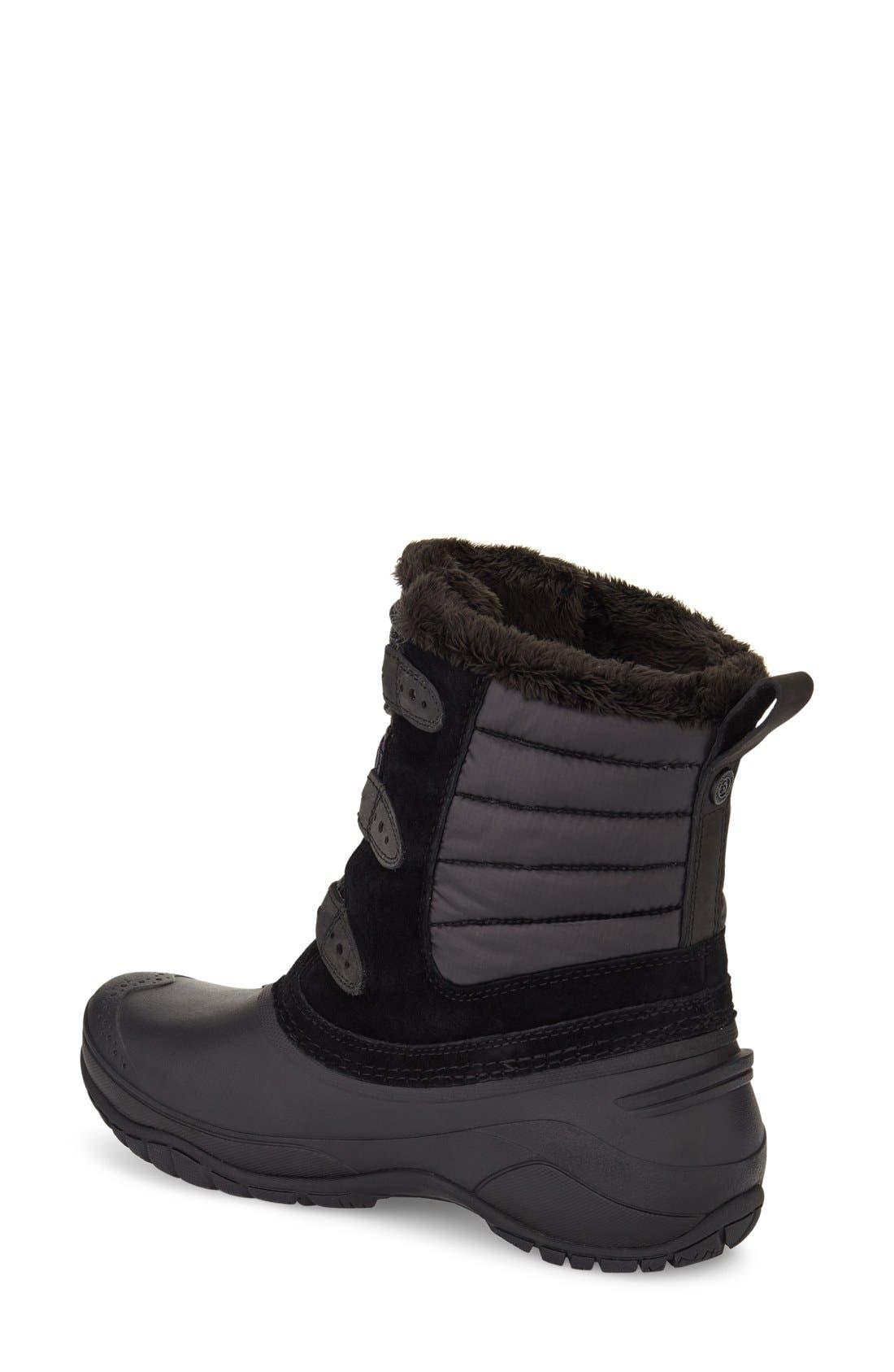 Shellista II Waterproof Boot,                             Alternate thumbnail 2, color,                             BLACK/ SMOKED PEARL GREY