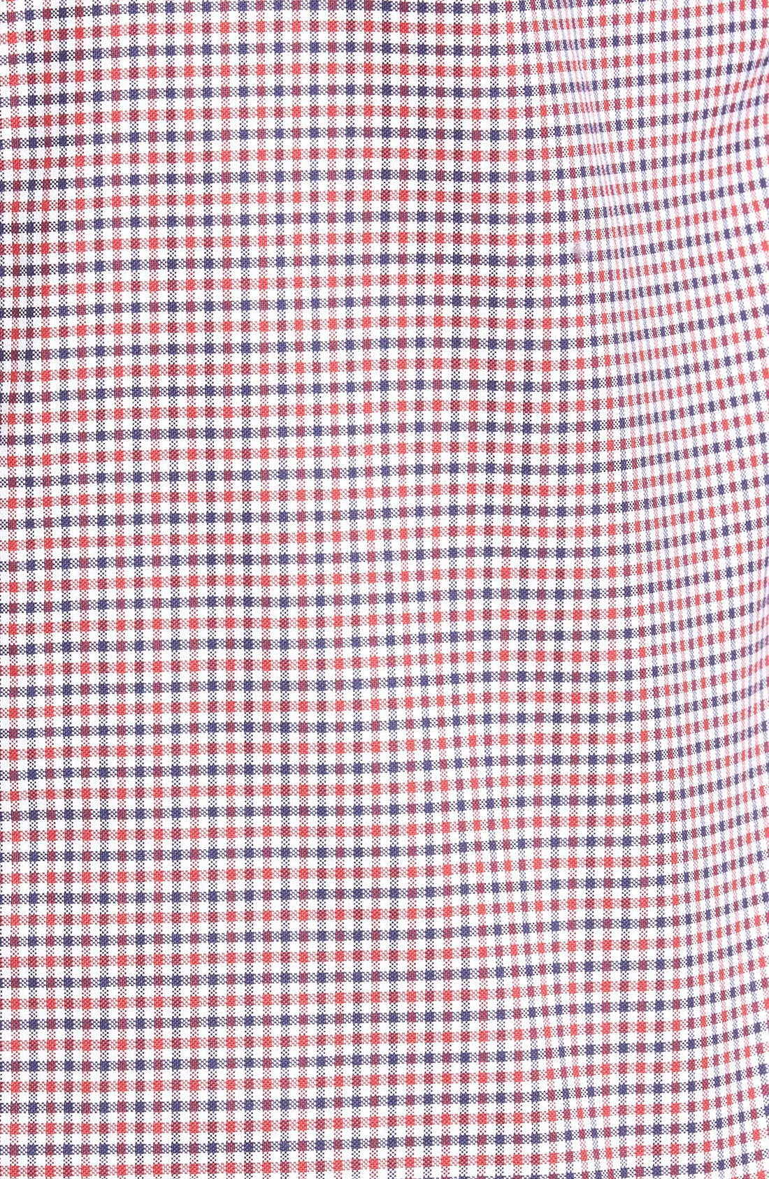 Gingham Fitted Sport Shirt,                             Alternate thumbnail 10, color,