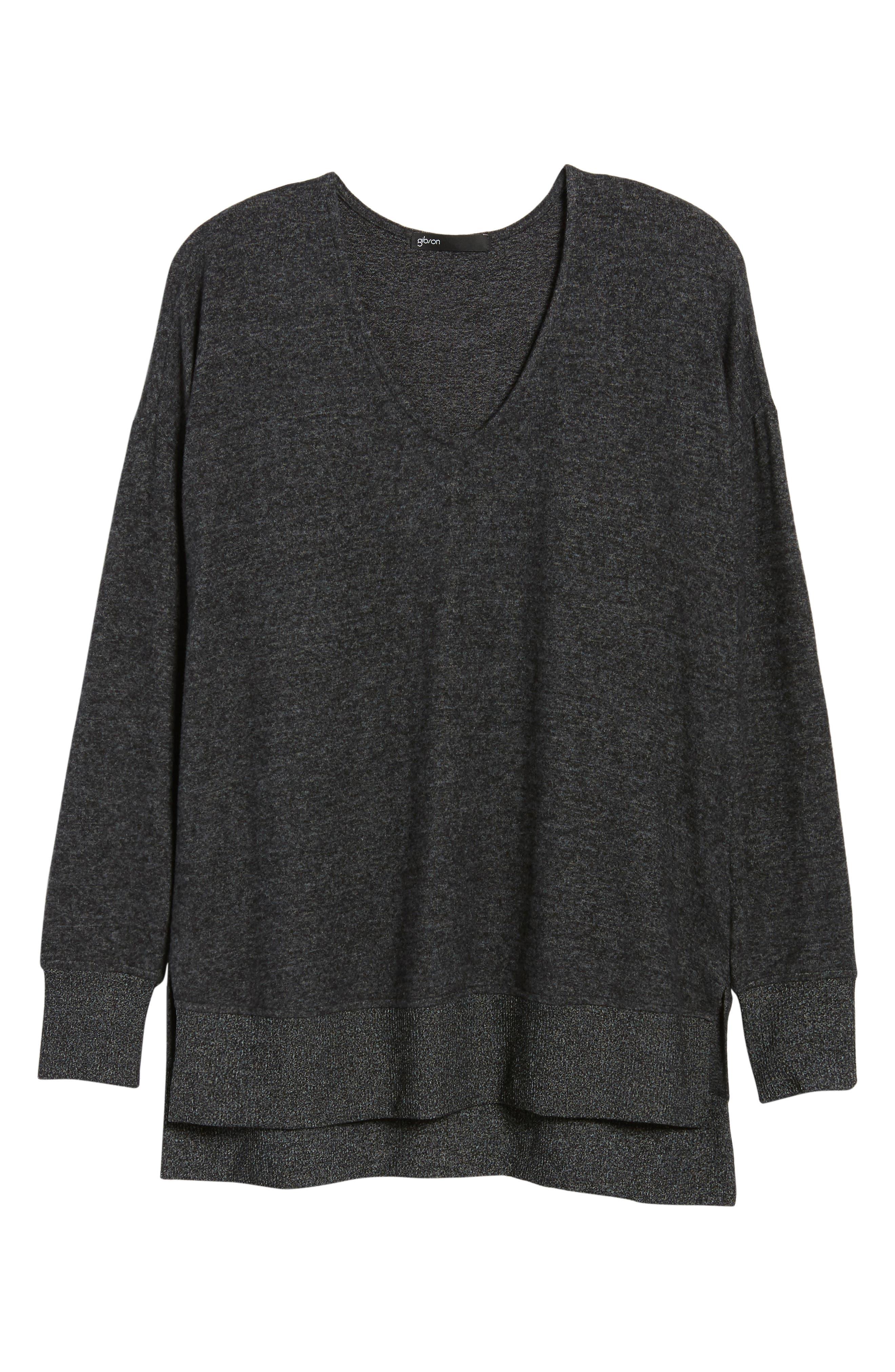 Cozy Sweatshirt,                             Alternate thumbnail 6, color,                             BLACK