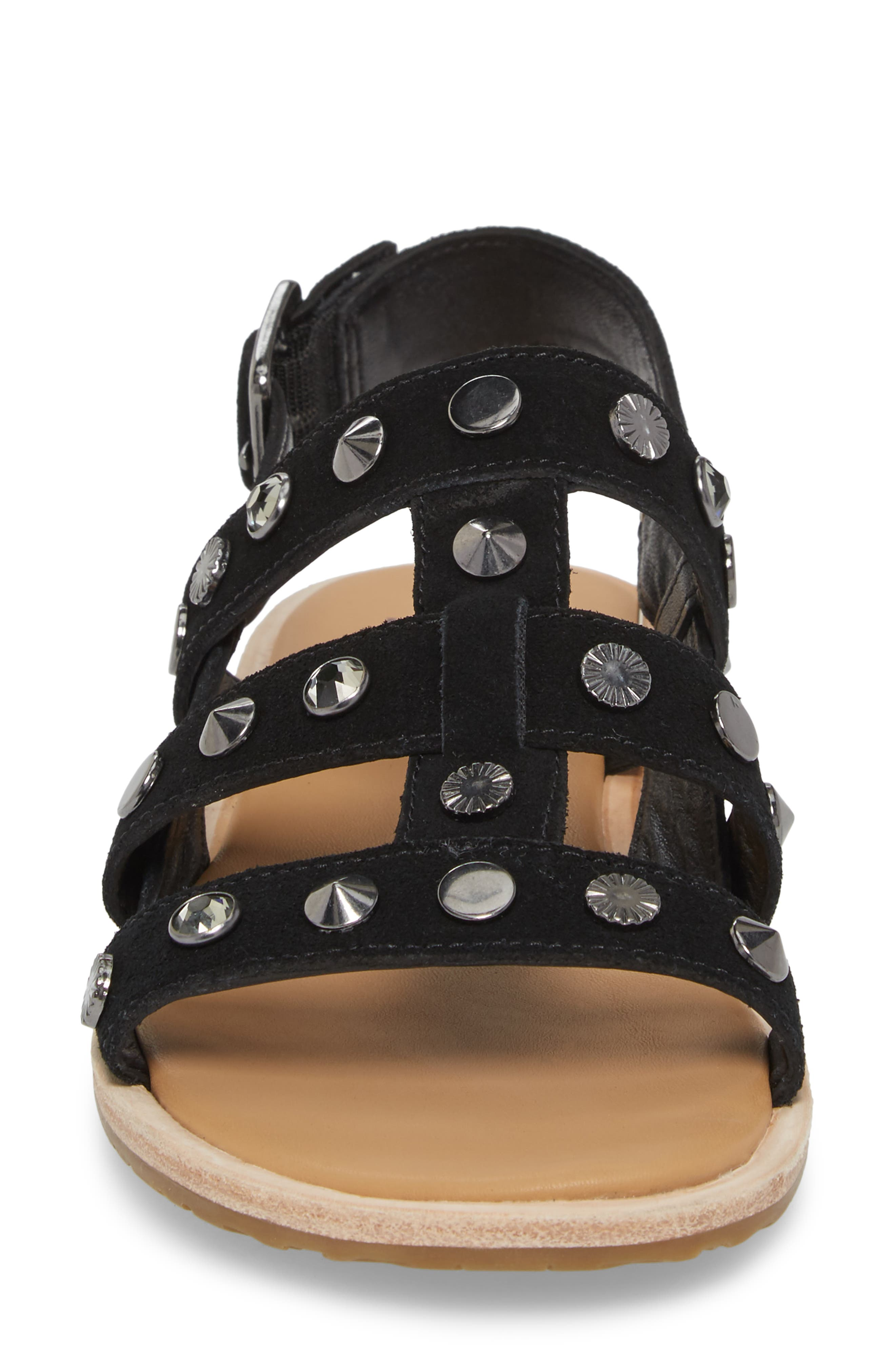 Zariah Studded Sandal,                             Alternate thumbnail 4, color,                             001