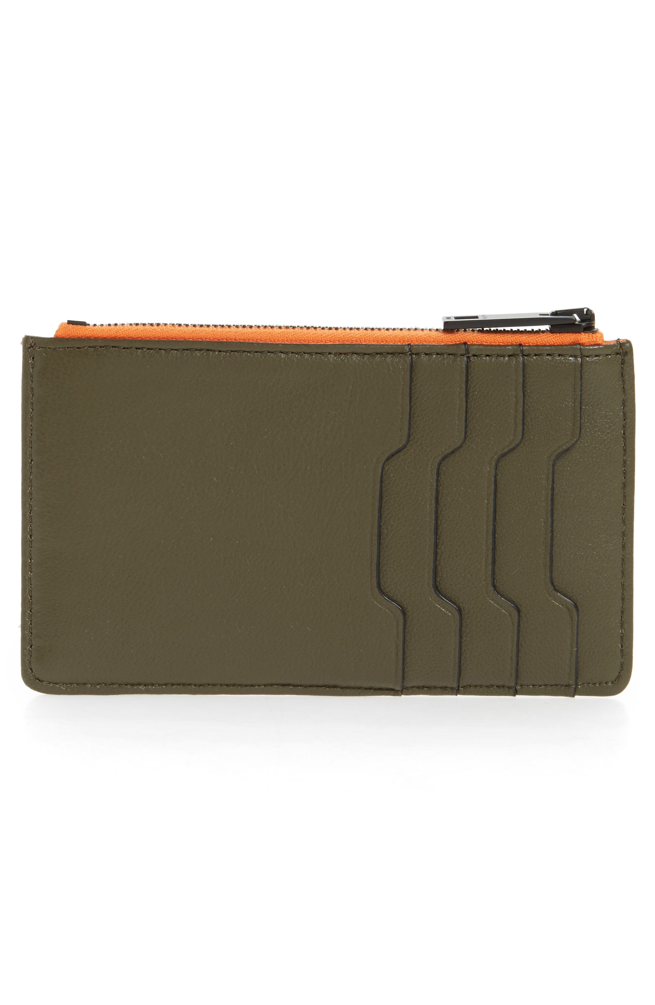 Dot Dash Quilted Leather Card Case,                             Alternate thumbnail 3, color,                             388