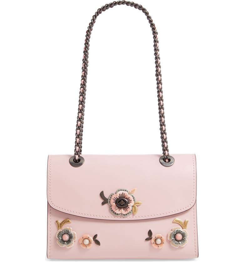 d2aa33e88b COACH Parker Tea Rose Leather Shoulder Bag