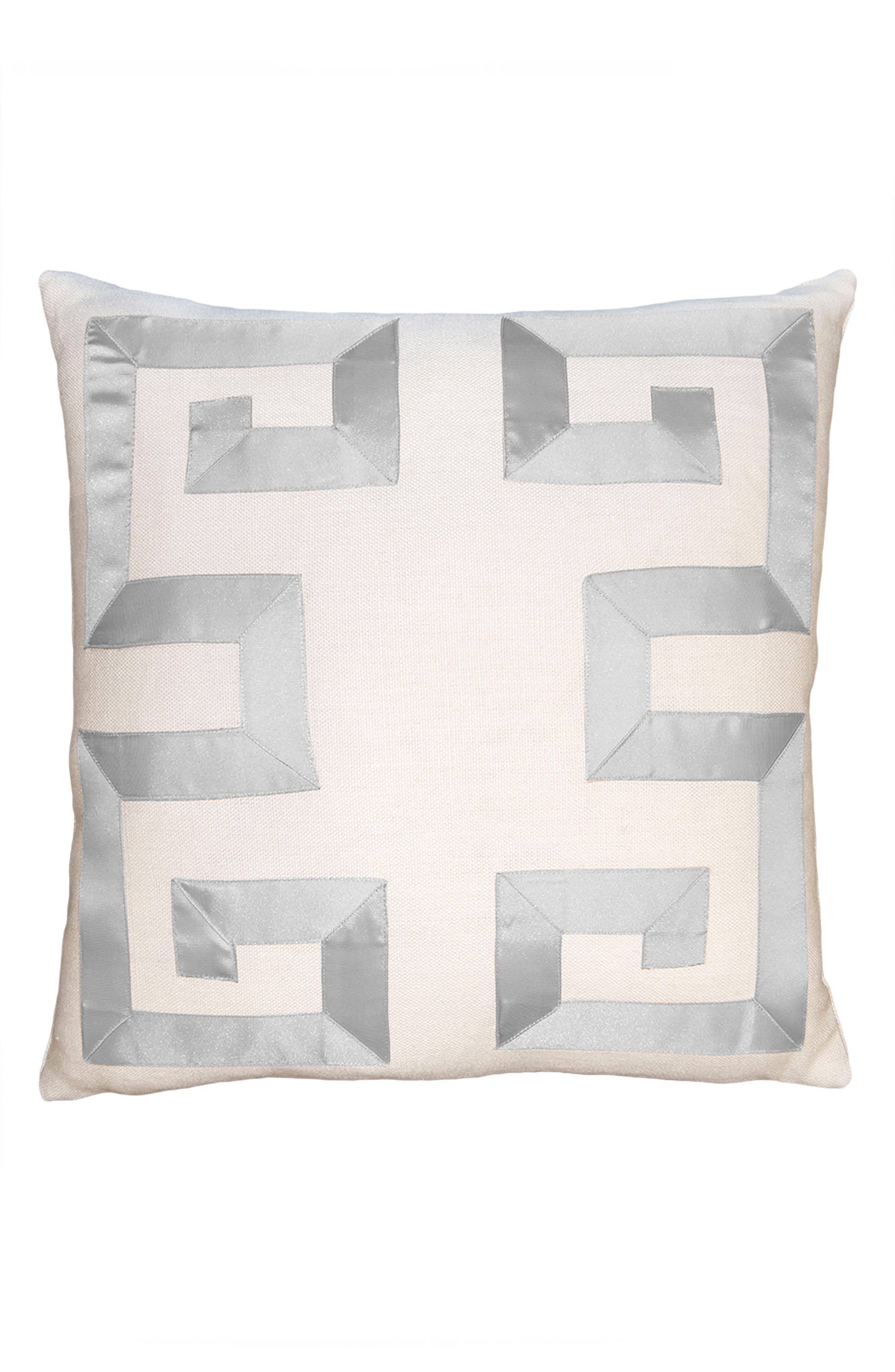 Empire Birch Accent Pillow,                         Main,                         color, SILVER