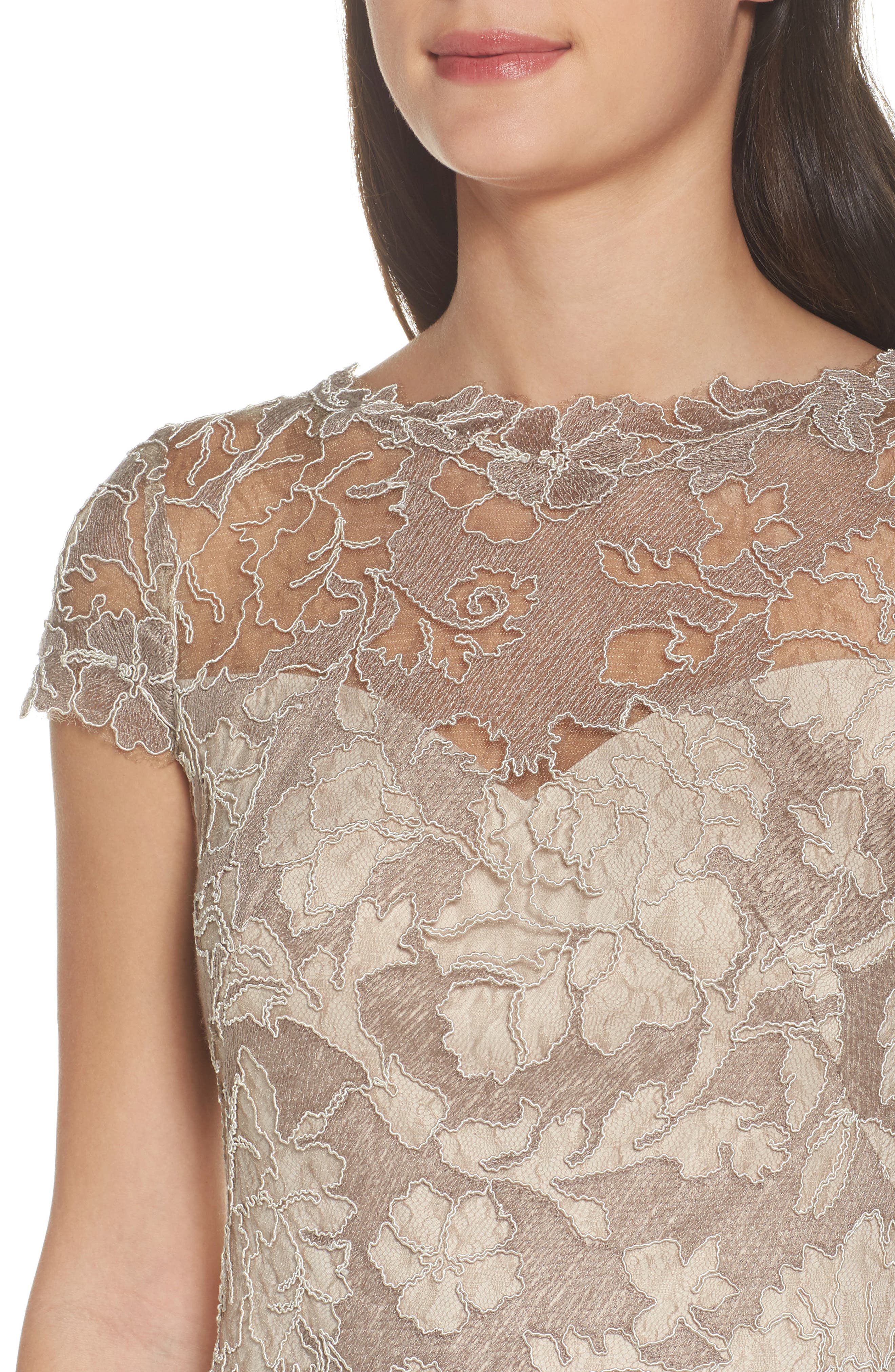 Embroidered Lace Sheath Dress,                             Alternate thumbnail 4, color,                             261