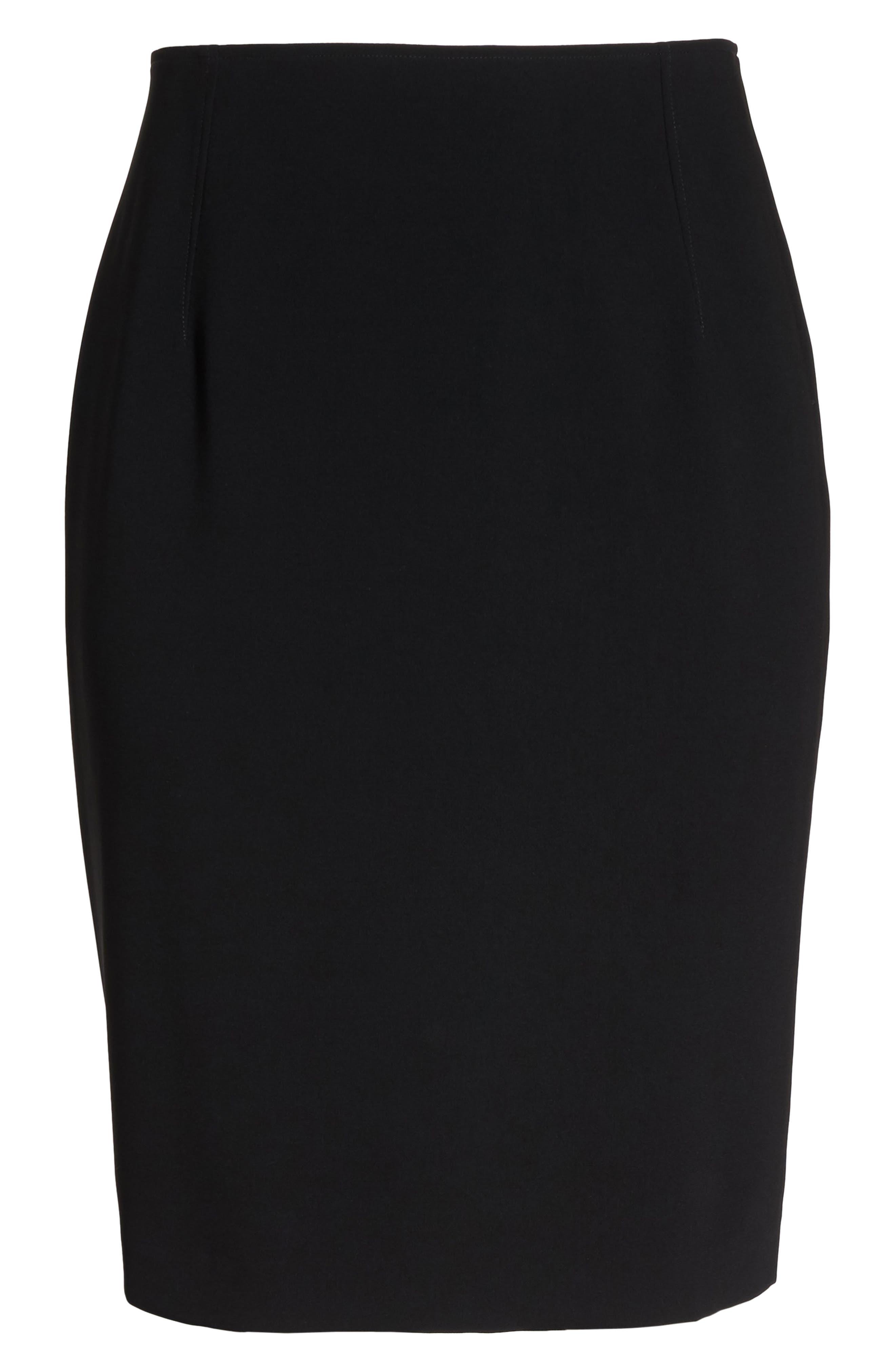 LOUBEN Suit Pencil Skirt, Main, color, BLACK