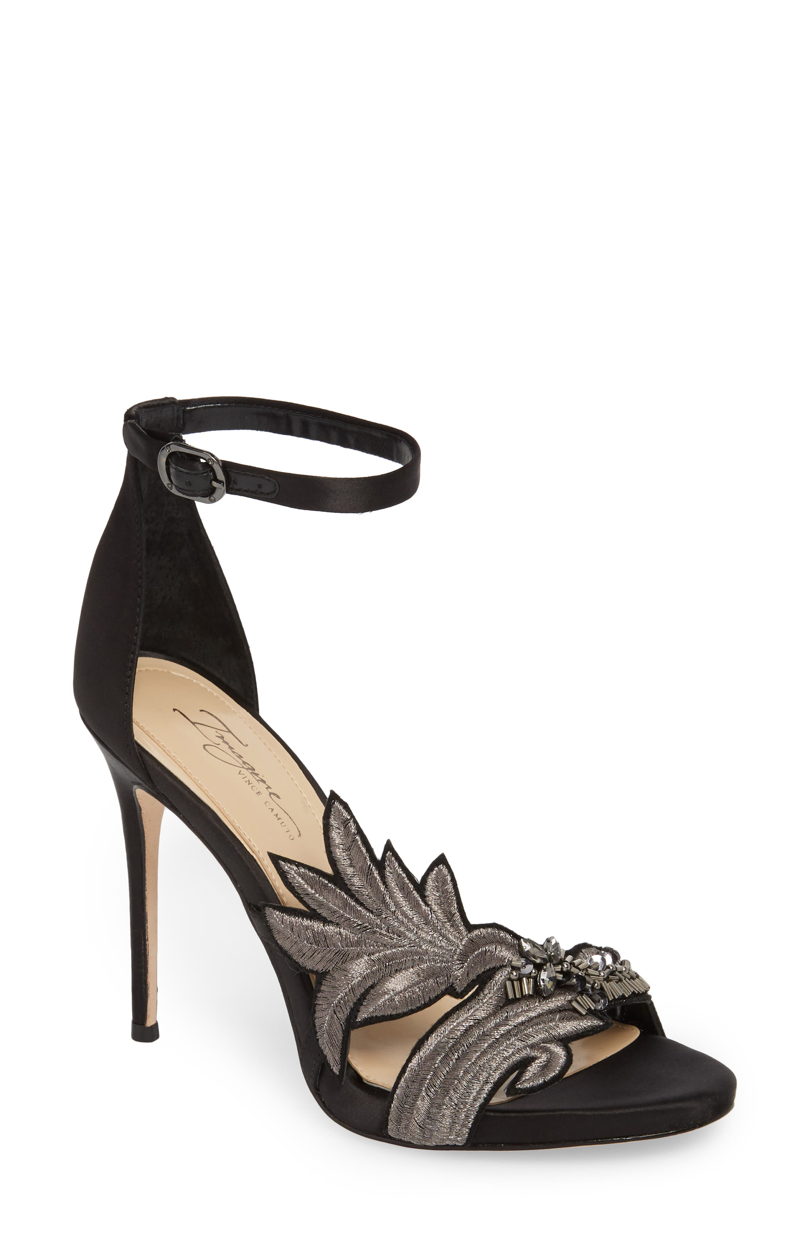 Imagine Vince Camuto Dayanara Embellished Sandal,                         Main,                         color, 001