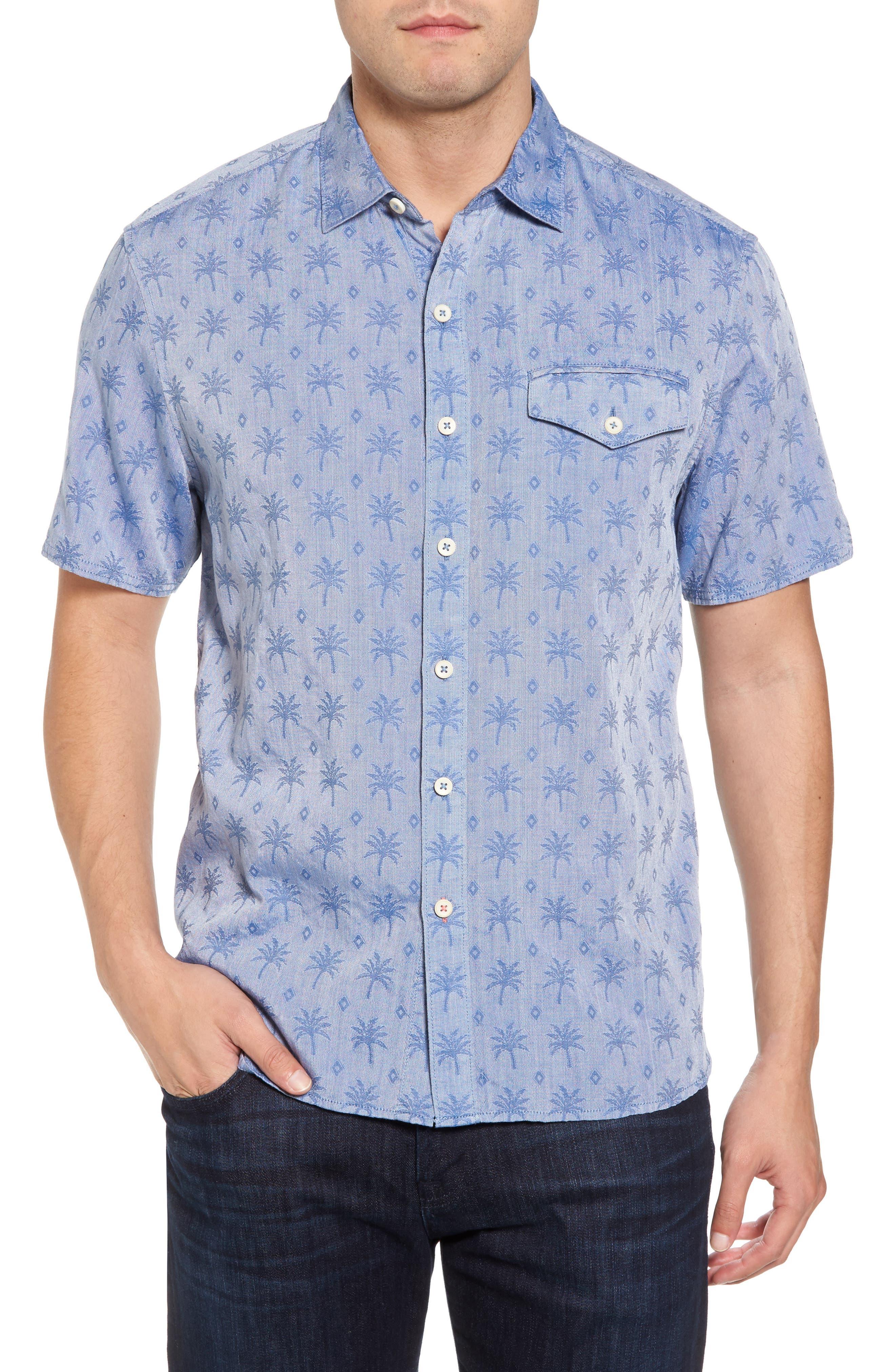 Palm Palm Regular Fit Jacquard Sport Shirt,                         Main,                         color, 400