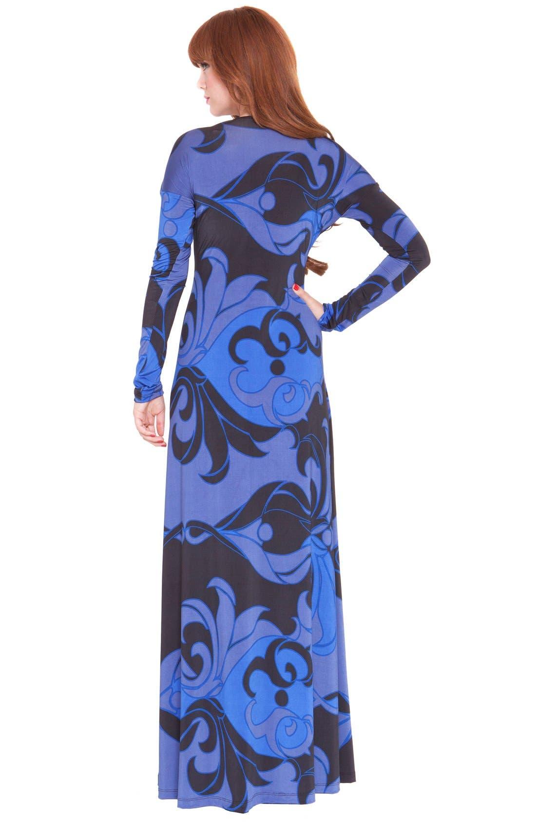 'Katherine' Print Maternity Maxi Dress,                             Alternate thumbnail 2, color,                             BLUE