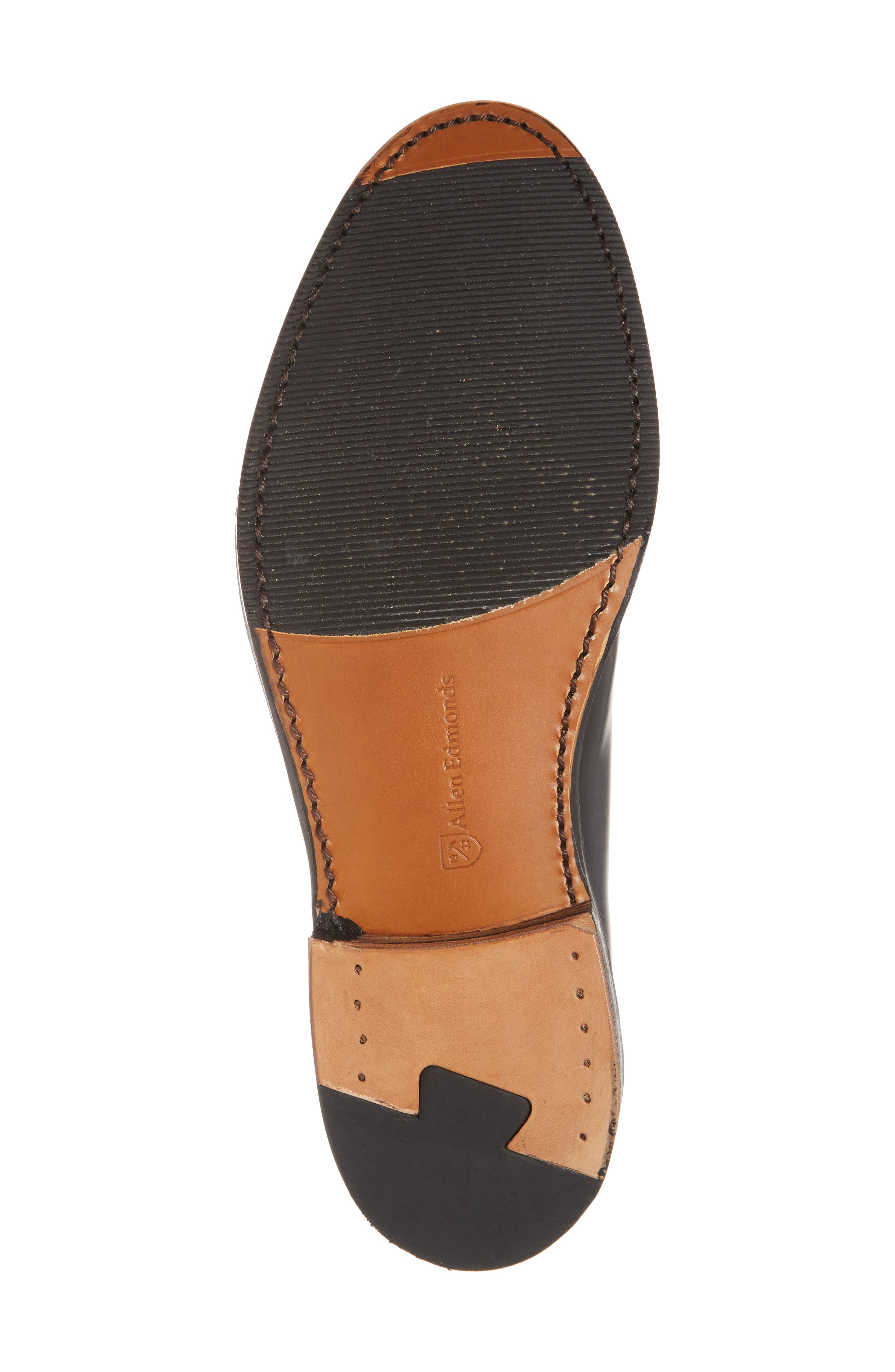 Whitney Plain Toe Derby,                             Alternate thumbnail 6, color,                             BLACK LEATHER