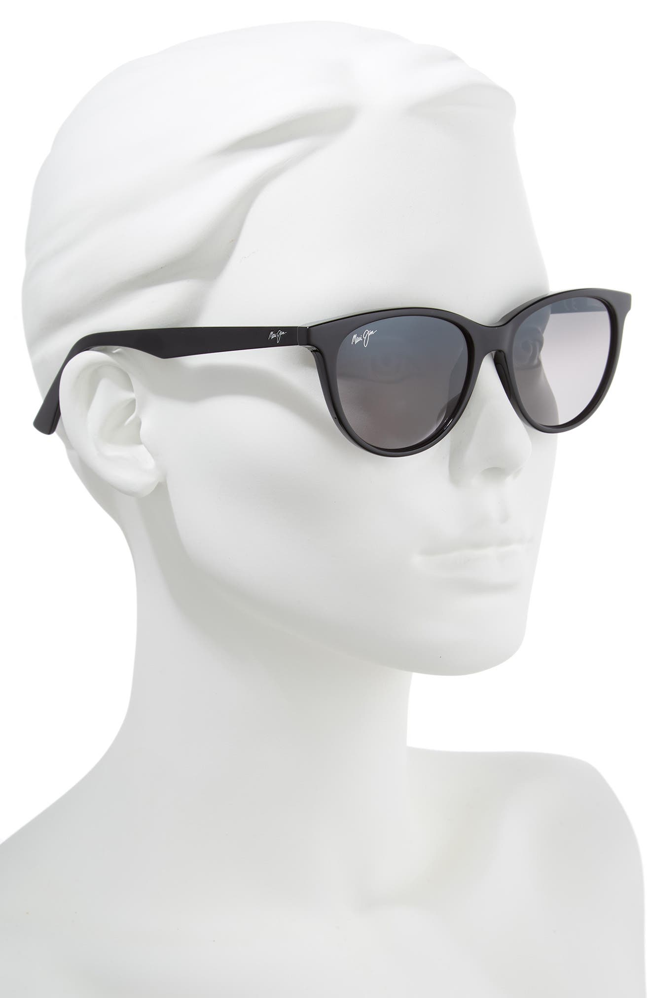 Cathedrals 52mm PolarizedPlus2<sup>®</sup> Cat Eye Sunglasses,                             Alternate thumbnail 2, color,                             BLACK GLOSS/ NEUTRAL GREY