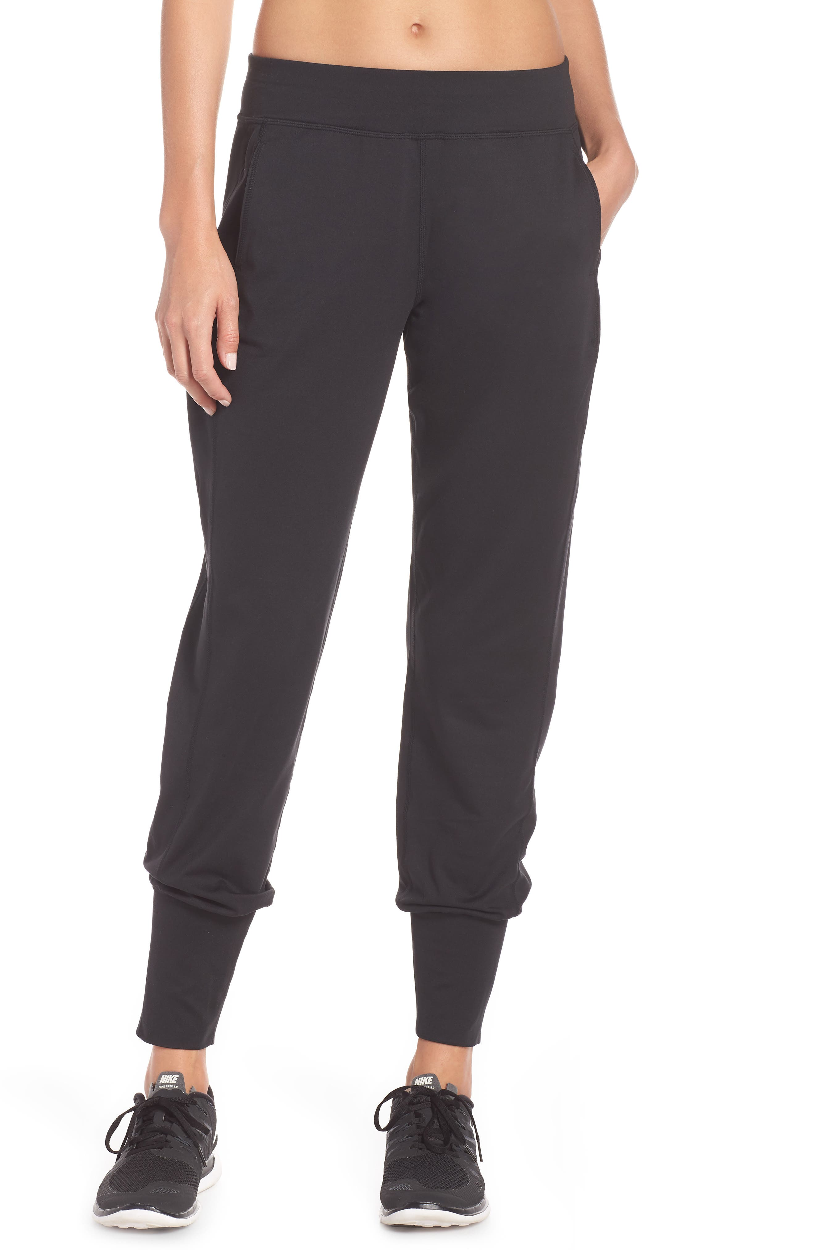 Garudasana Yoga Trousers,                             Main thumbnail 1, color,                             BLACK