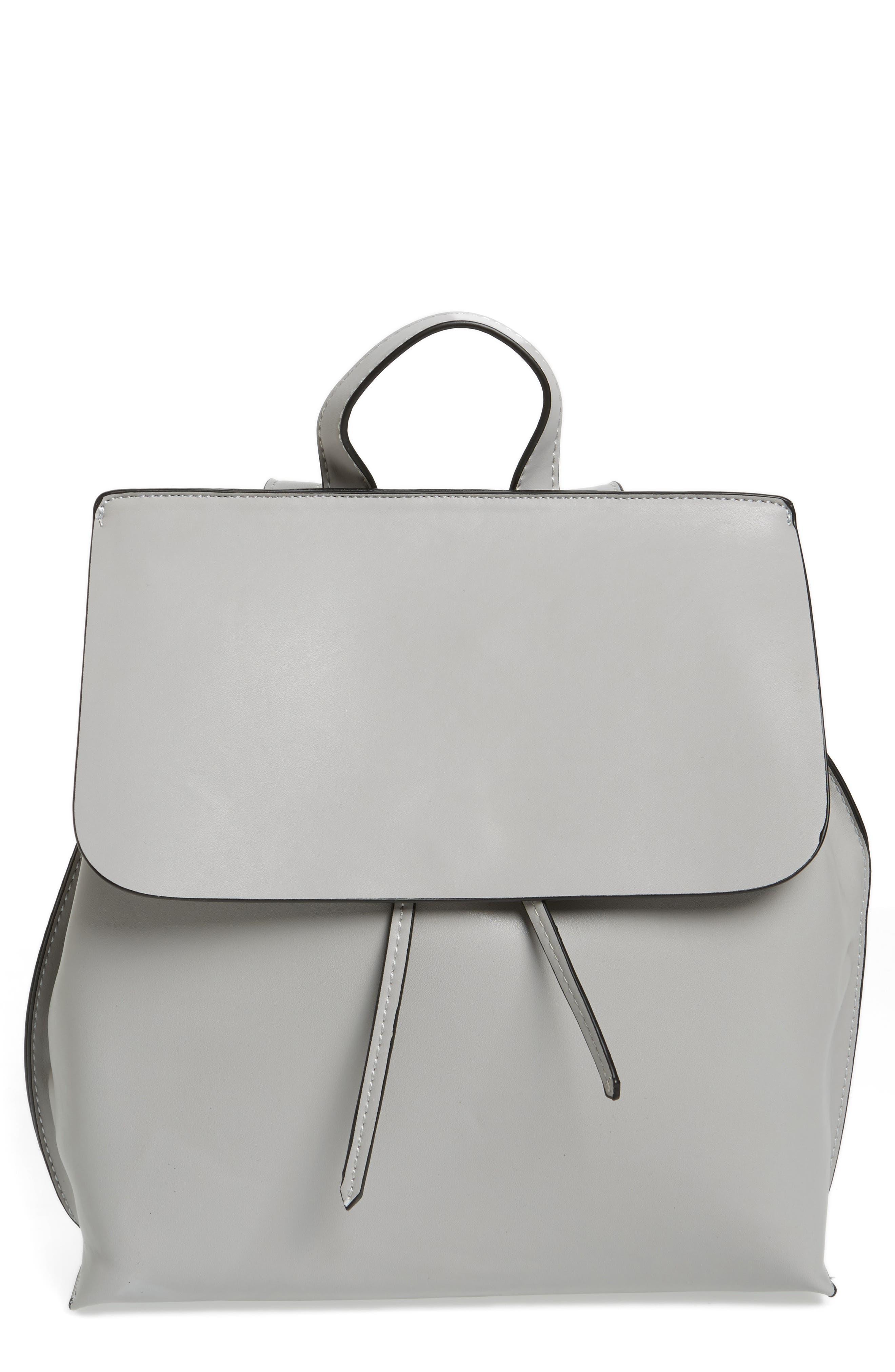 Selena Faux Leather Backpack,                             Alternate thumbnail 7, color,
