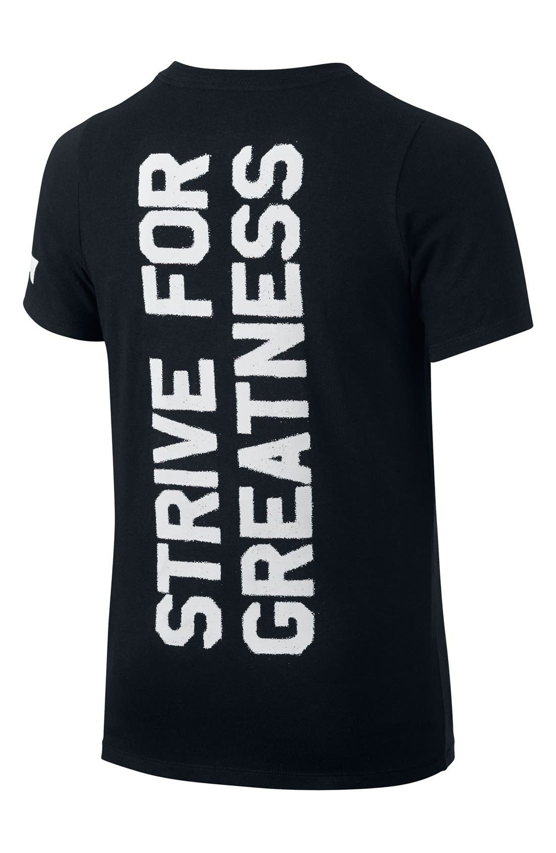 'LeBron Strive For Greatness' Dri-FIT T-Shirt,                             Alternate thumbnail 2, color,                             010