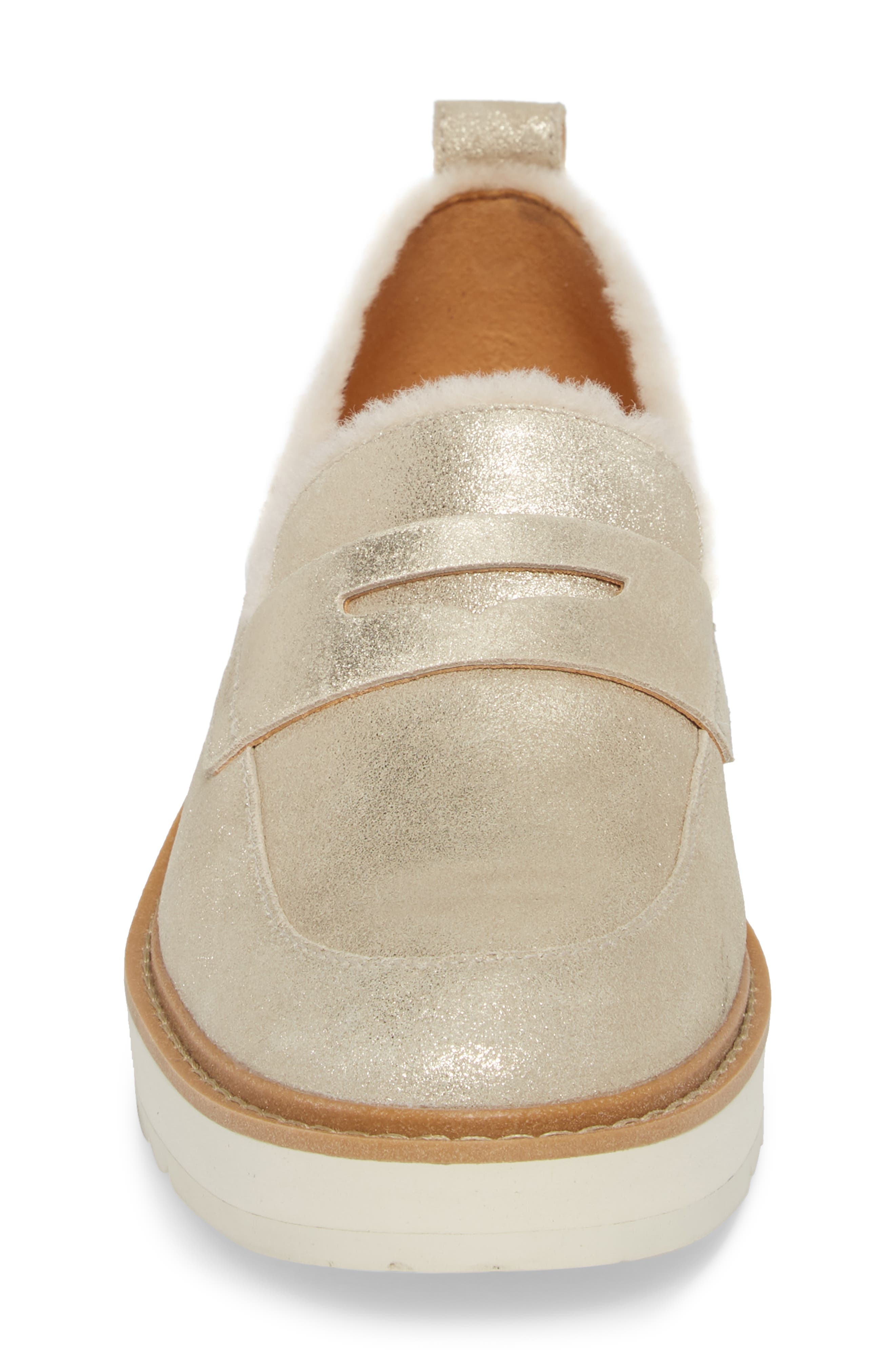 Atwater Metallic Wedge Loafer,                             Alternate thumbnail 4, color,                             710