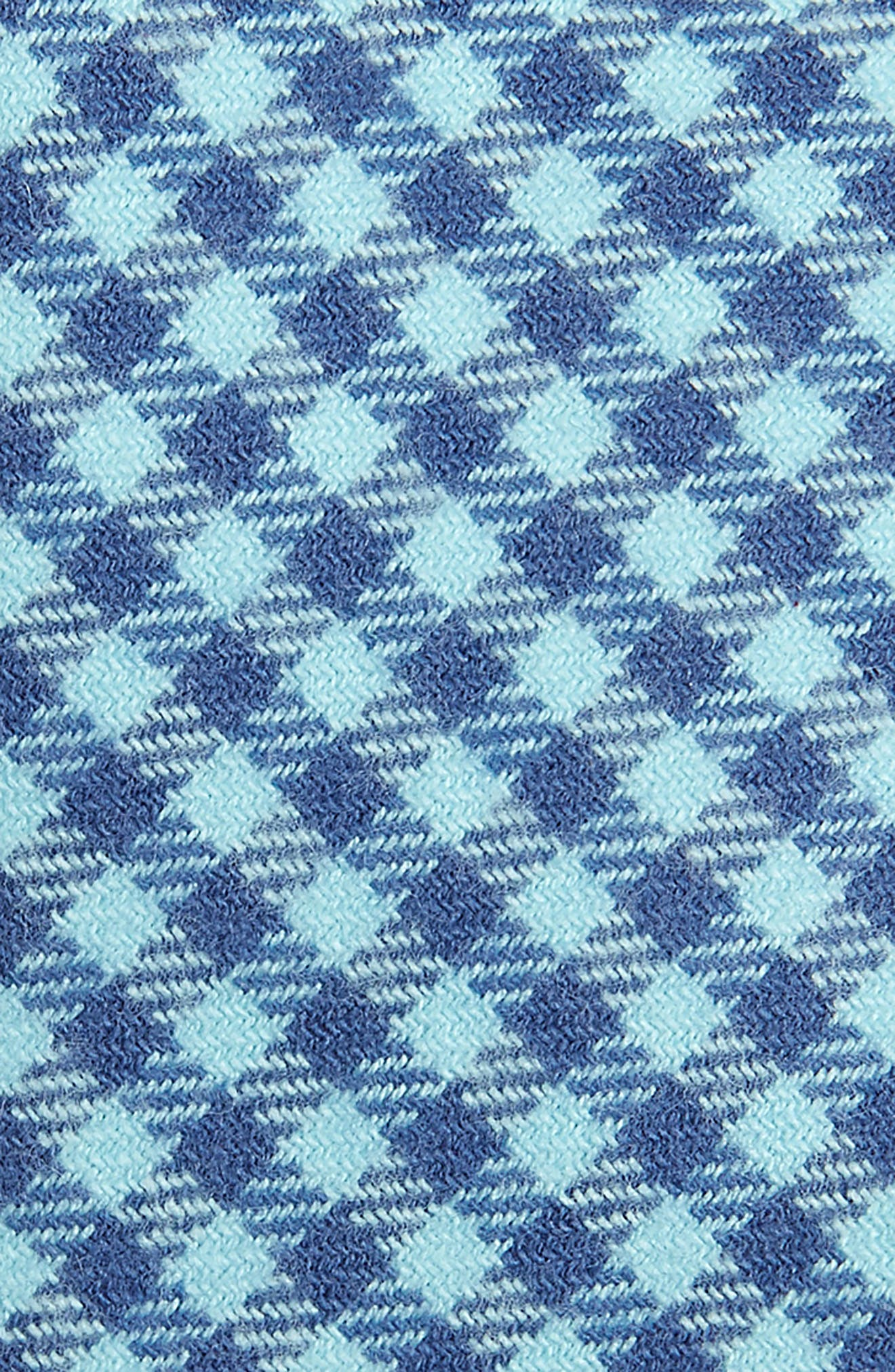 Tradewinds Kennedy Check Stretch Cotton Tie,                             Alternate thumbnail 2, color,                             POOL SIDE