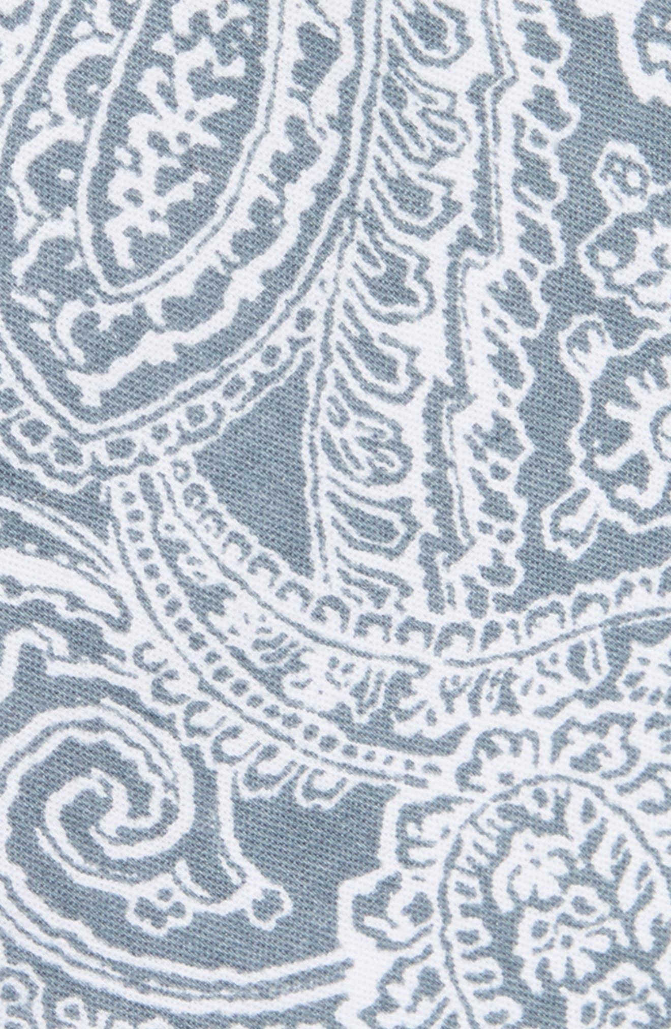 Lee Paisley Cotton Tie,                             Alternate thumbnail 4, color,