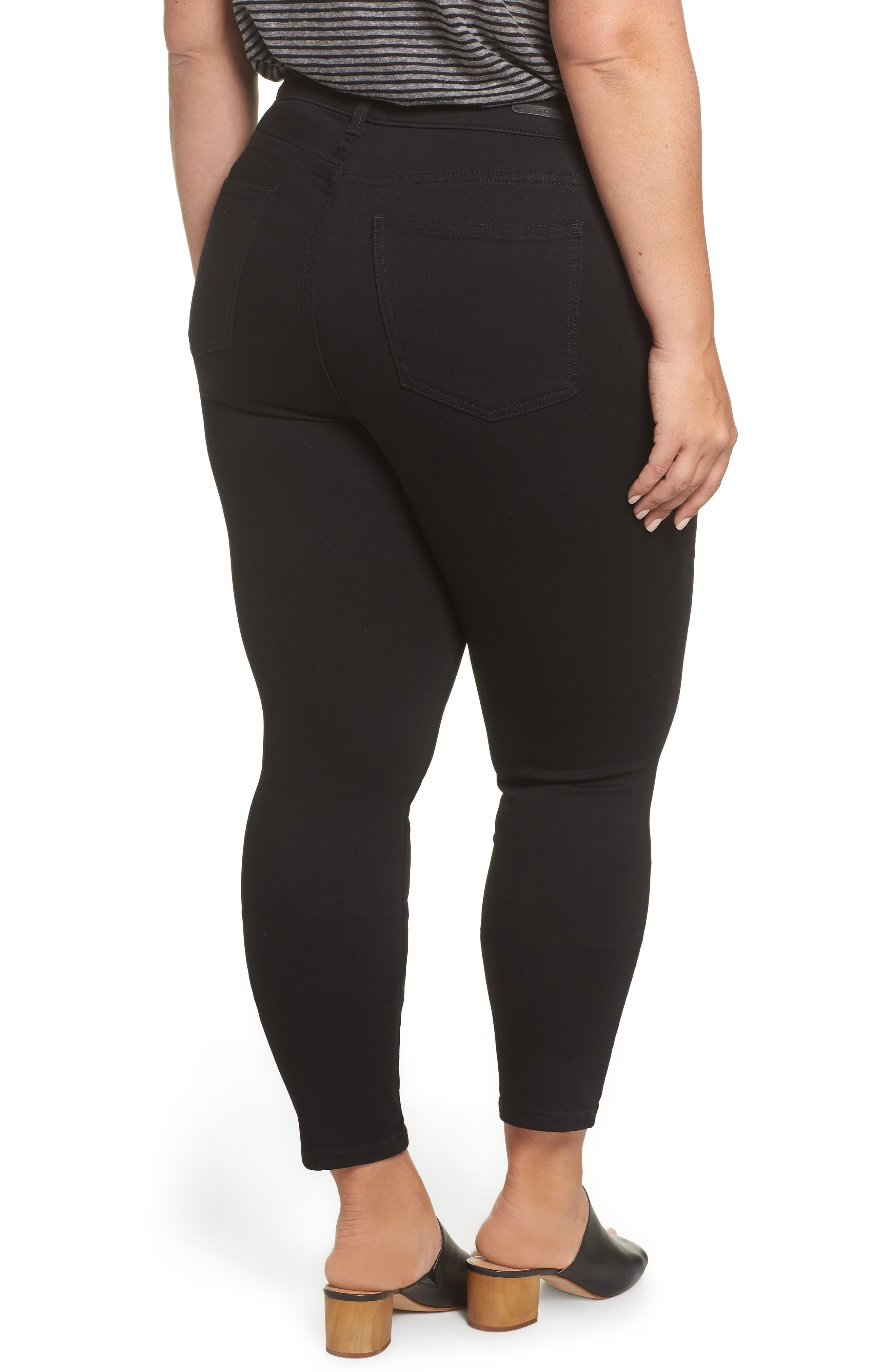 Stretch Skinny Jeans,                             Alternate thumbnail 2, color,                             BLACK WASH