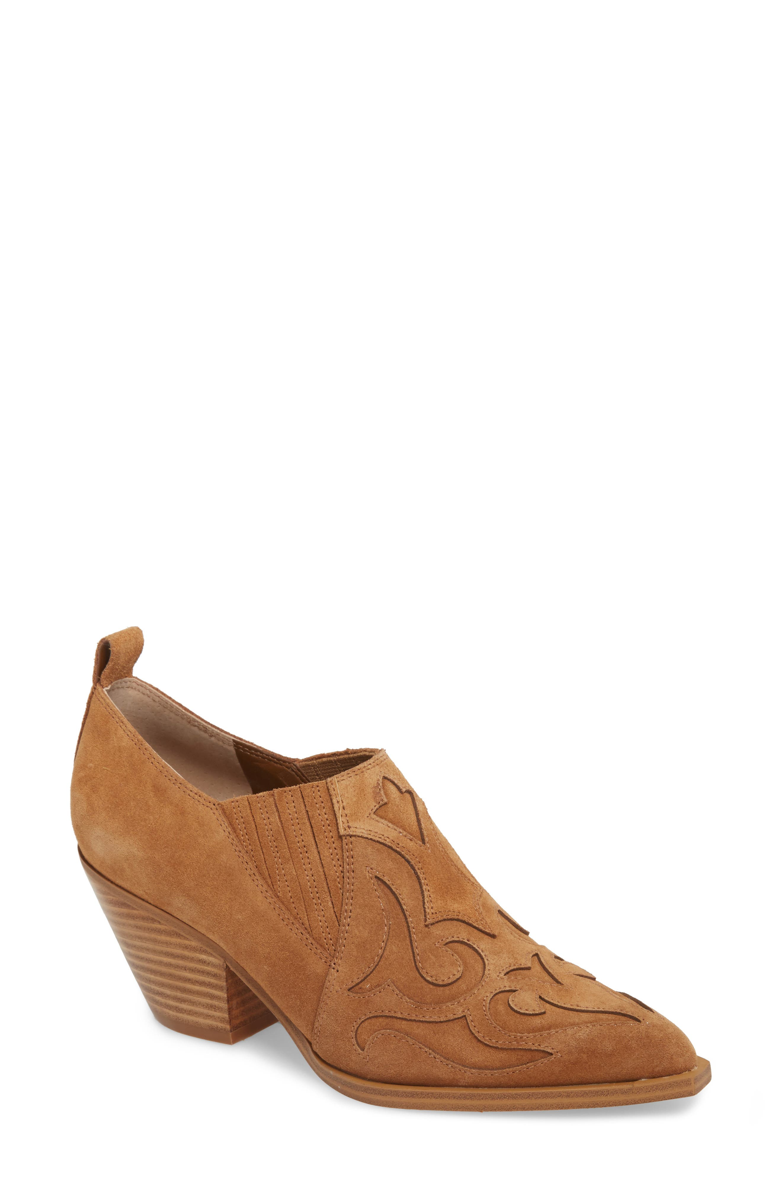 Marc Fisher Ltd Charly Western Bootie, Brown