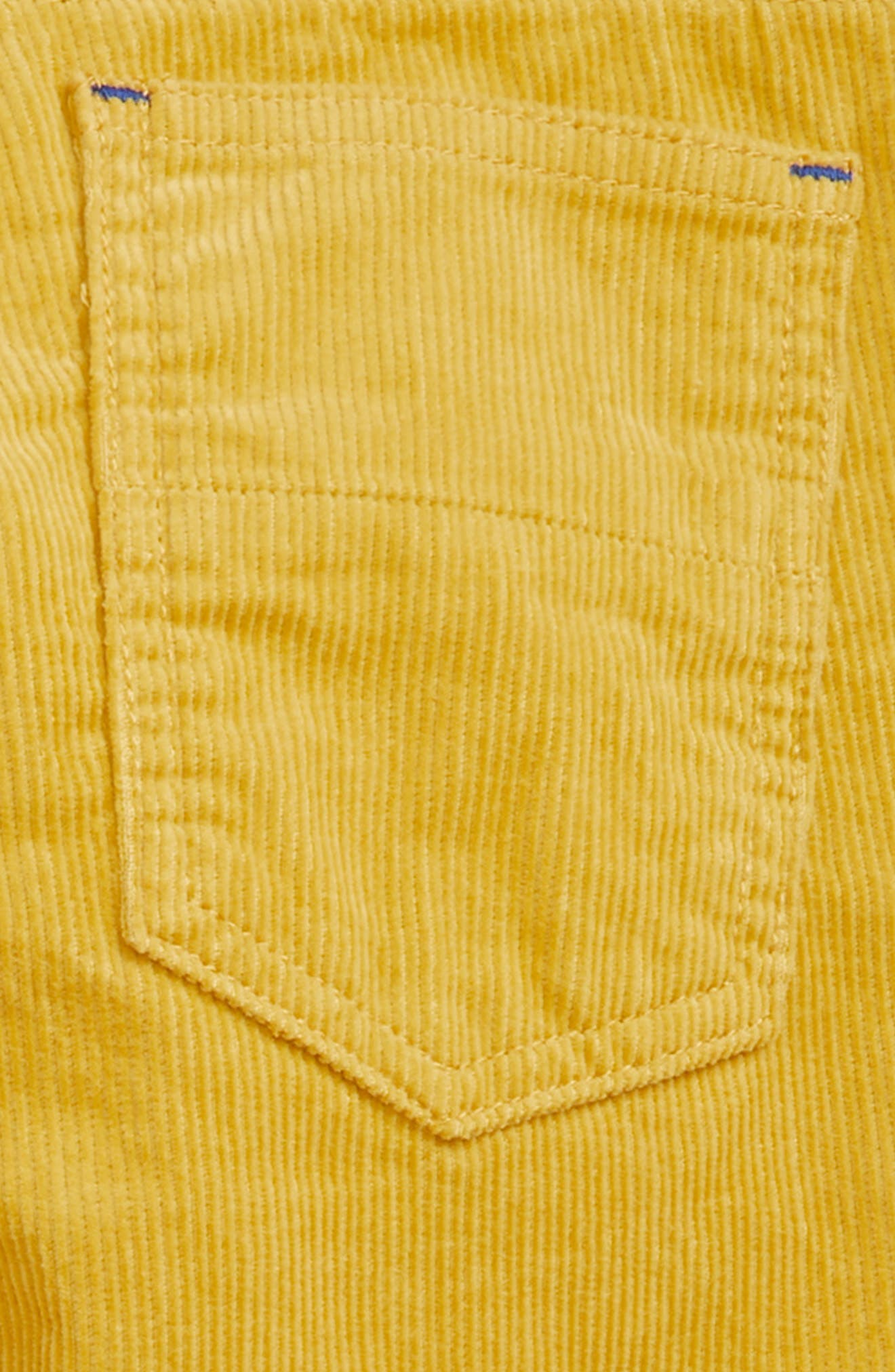 Slim Corduroy Jeans,                             Alternate thumbnail 3, color,                             SOFT LIME YELLOW