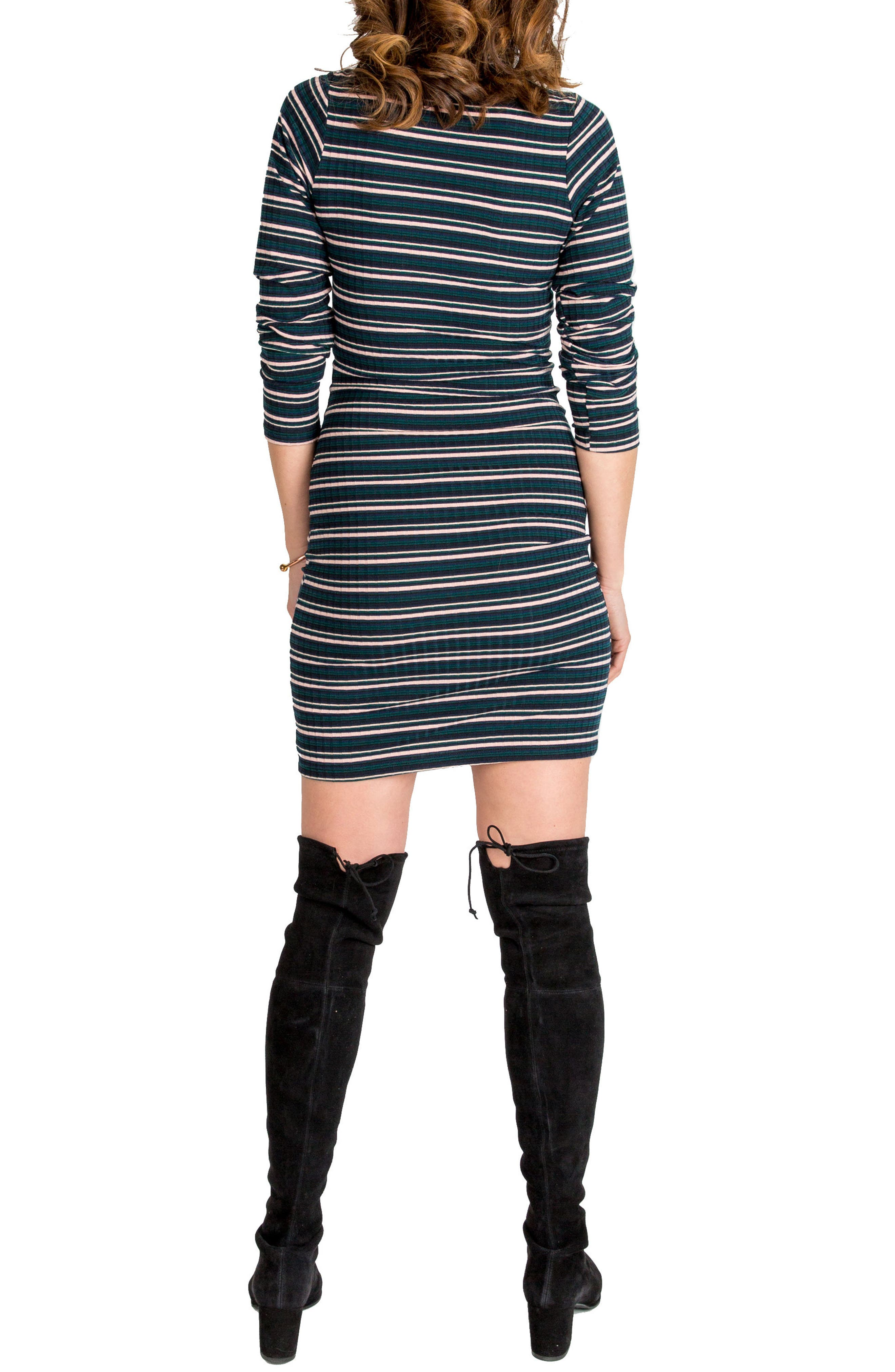 Talya Turtleneck Maternity Dress,                             Alternate thumbnail 2, color,                             302