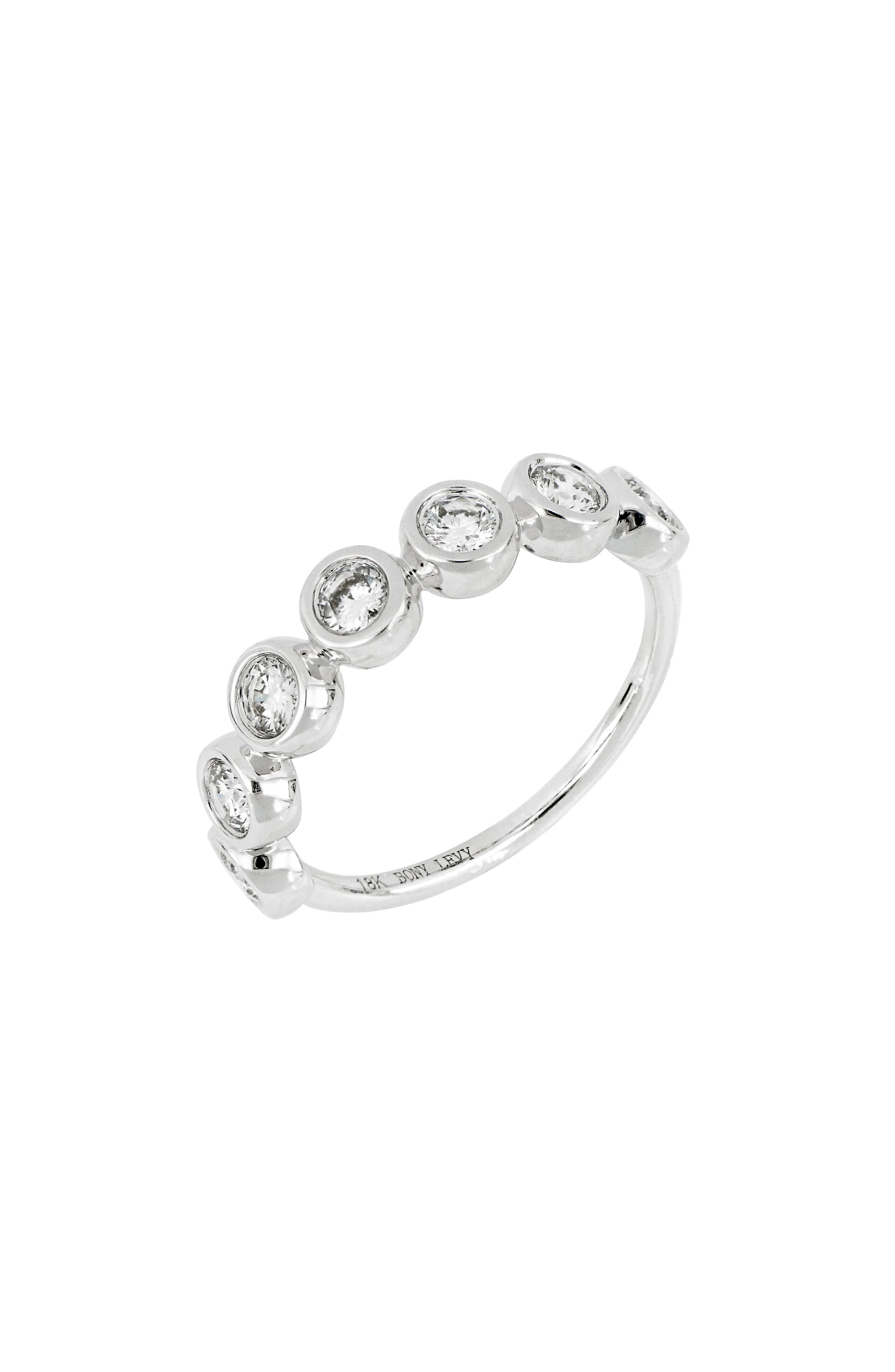 Round Diamond Ring,                         Main,                         color, WHITE GOLD